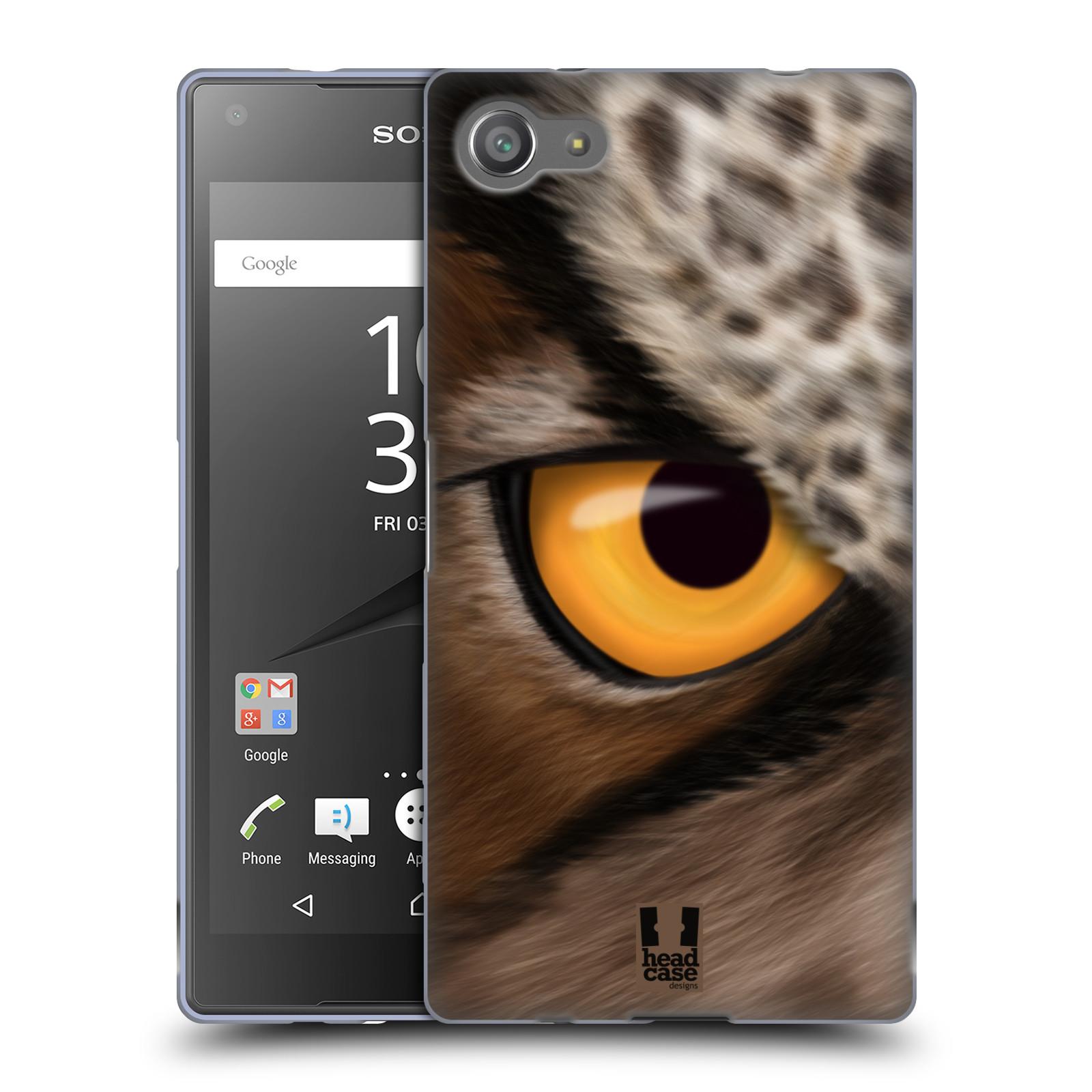 HEAD CASE silikonový obal na mobil Sony Xperia Z5 COMPACT vzor pohled zvířete oko sova
