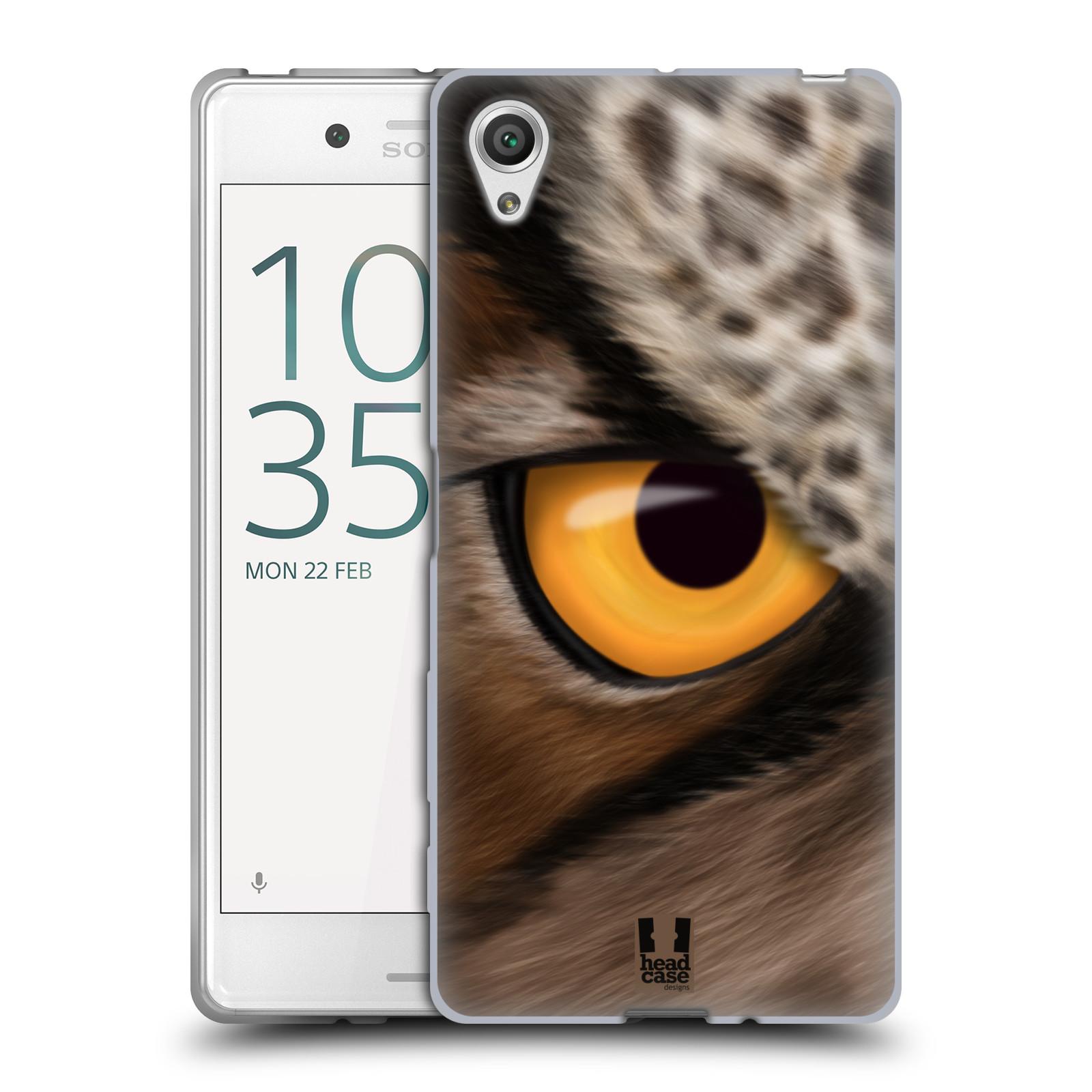HEAD CASE silikonový obal na mobil Sony Xperia X / X DUAL vzor pohled zvířete oko sova