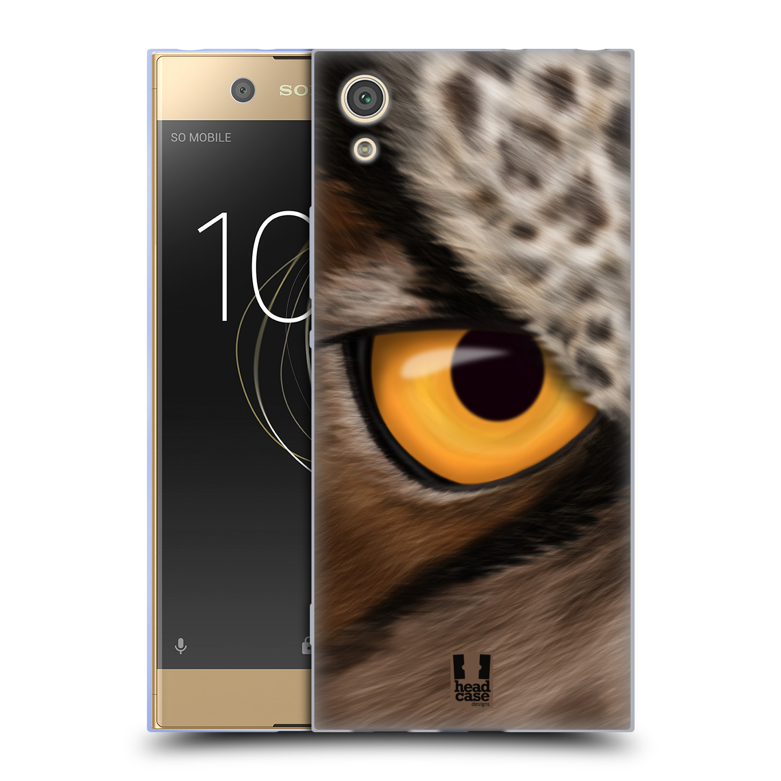 HEAD CASE silikonový obal na mobil Sony Xperia XA1 / XA1 DUAL SIM vzor pohled zvířete oko sova