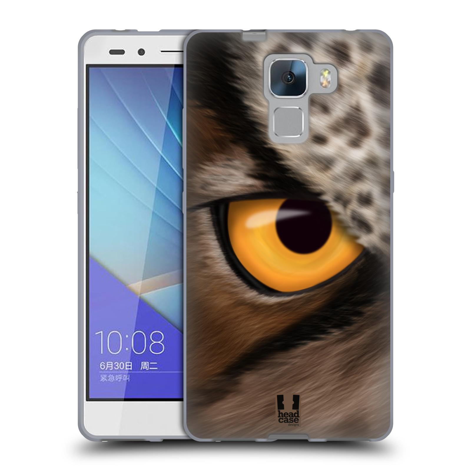 HEAD CASE silikonový obal na mobil HUAWEI HONOR 7 vzor pohled zvířete oko sova