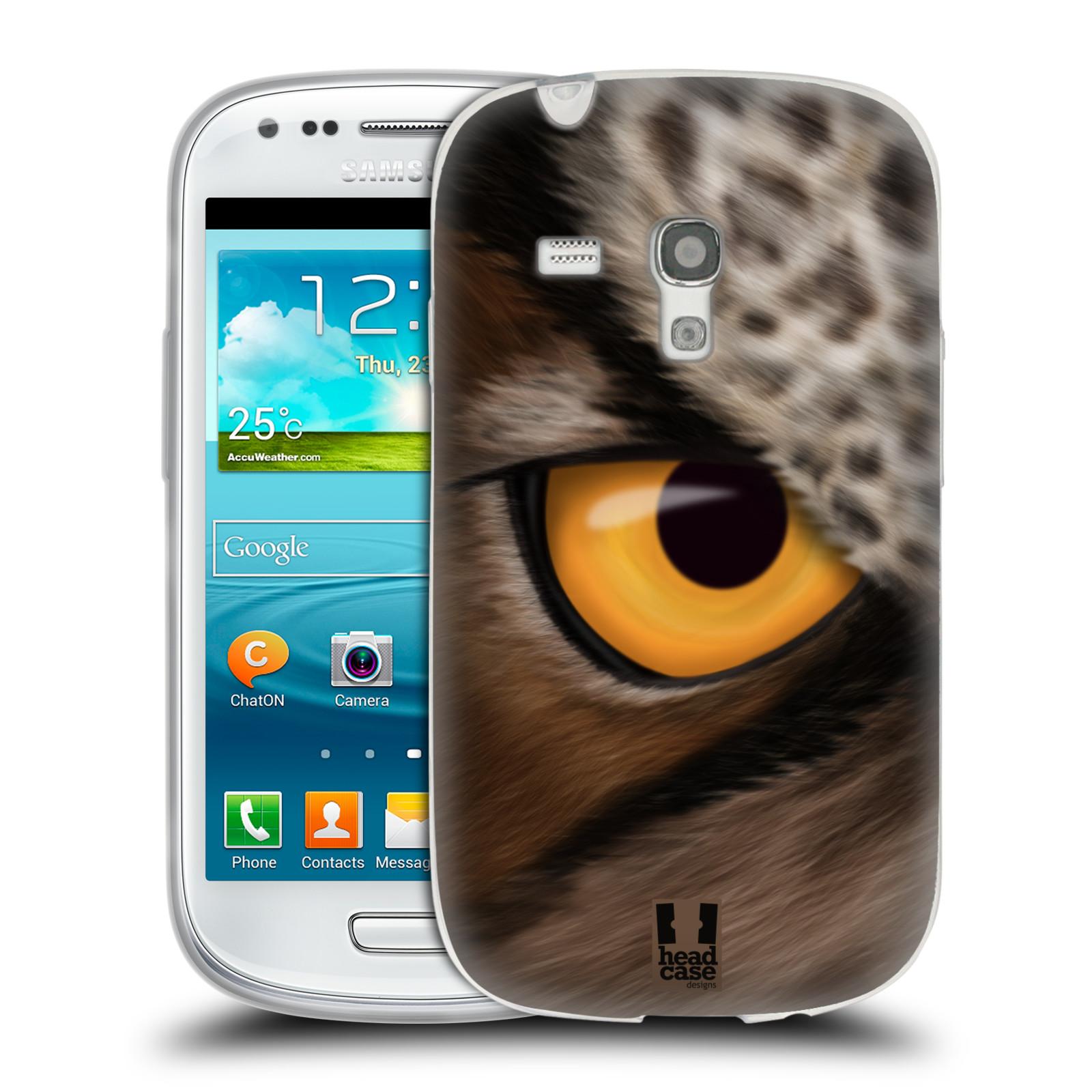 HEAD CASE silikonový obal na mobil Samsung Galaxy S3 MINI i8190 vzor pohled zvířete oko sova