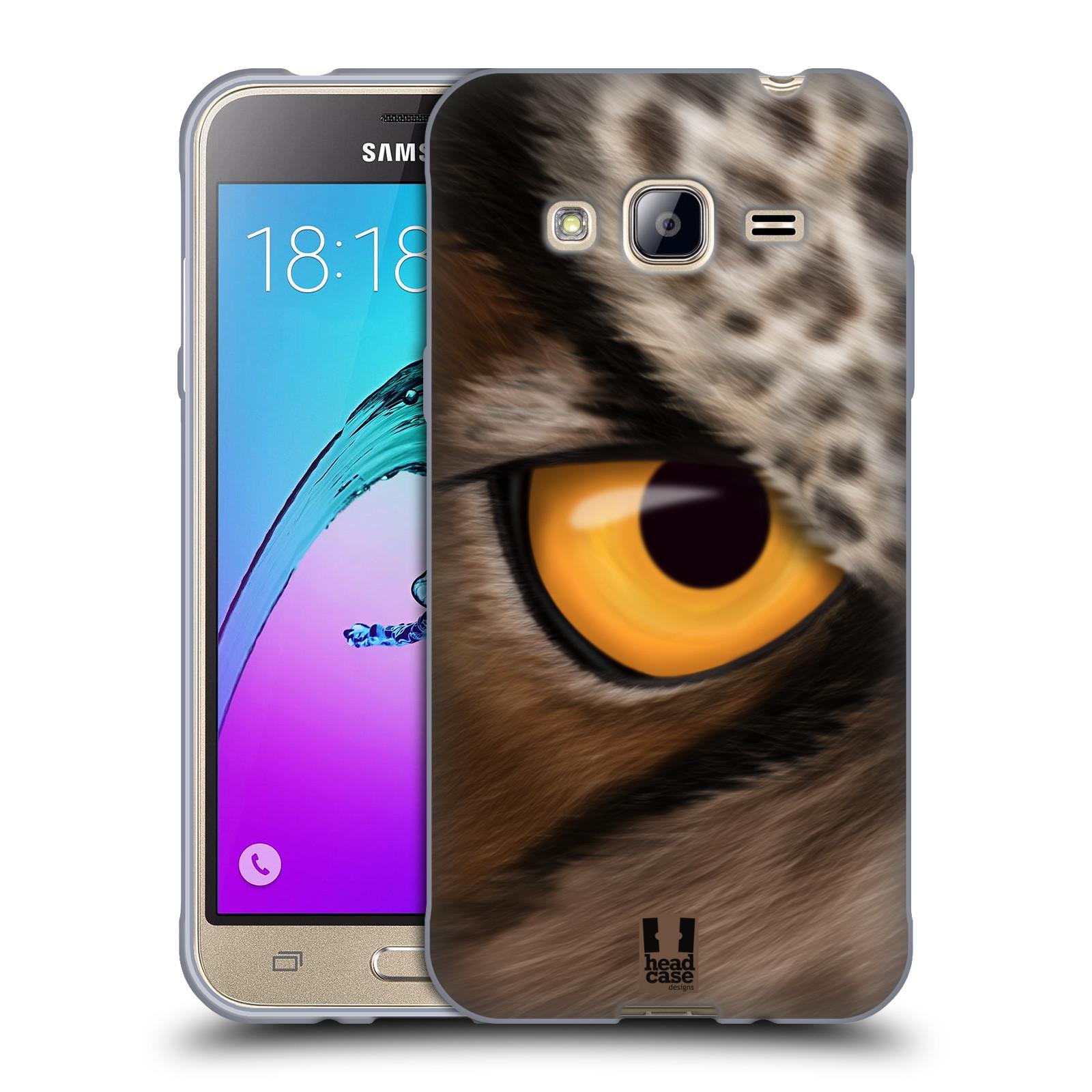 HEAD CASE silikonový obal na mobil Samsung Galaxy J3, J3 2016 vzor pohled zvířete oko sova