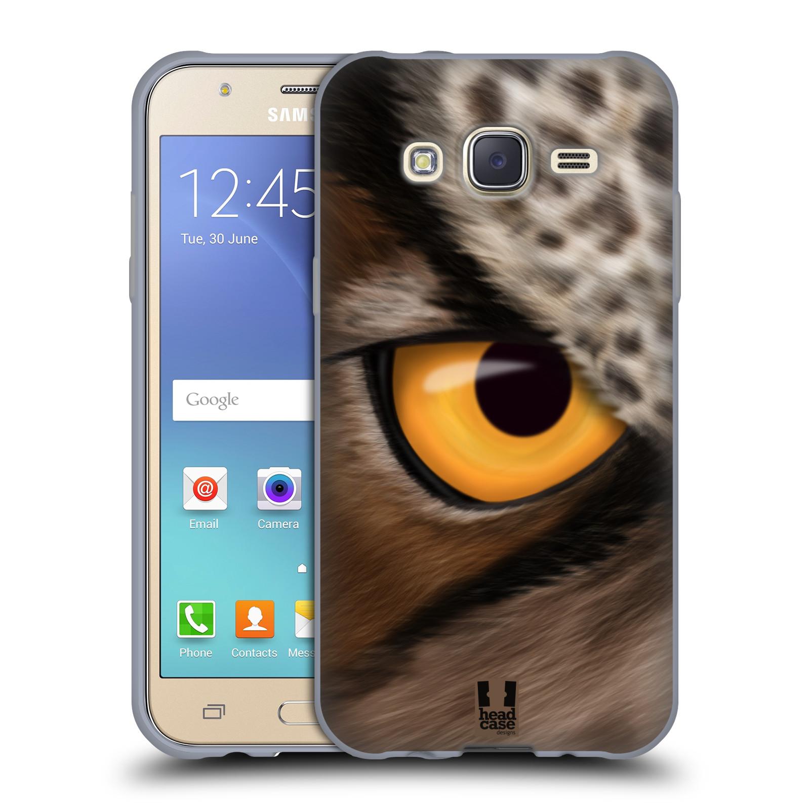 HEAD CASE silikonový obal na mobil Samsung Galaxy J5, J500, (J5 DUOS) vzor pohled zvířete oko sova