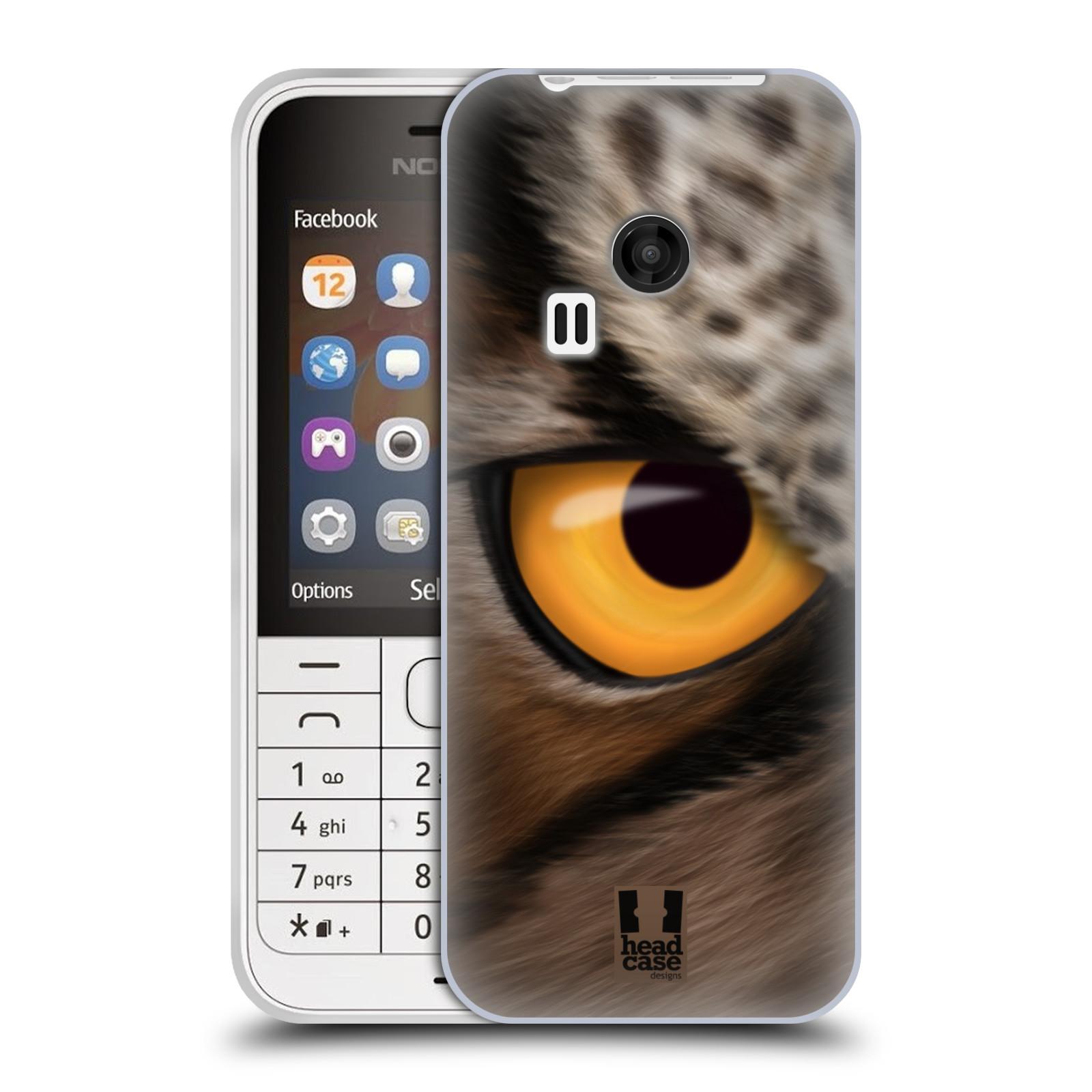 HEAD CASE silikonový obal na mobil NOKIA 220 / NOKIA 220 DUAL SIM vzor pohled zvířete oko sova