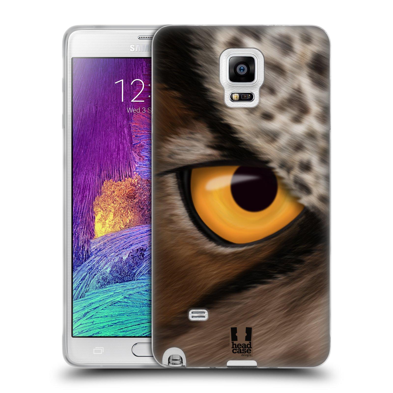 HEAD CASE silikonový obal na mobil Samsung Galaxy Note 4 (N910) vzor pohled zvířete oko sova