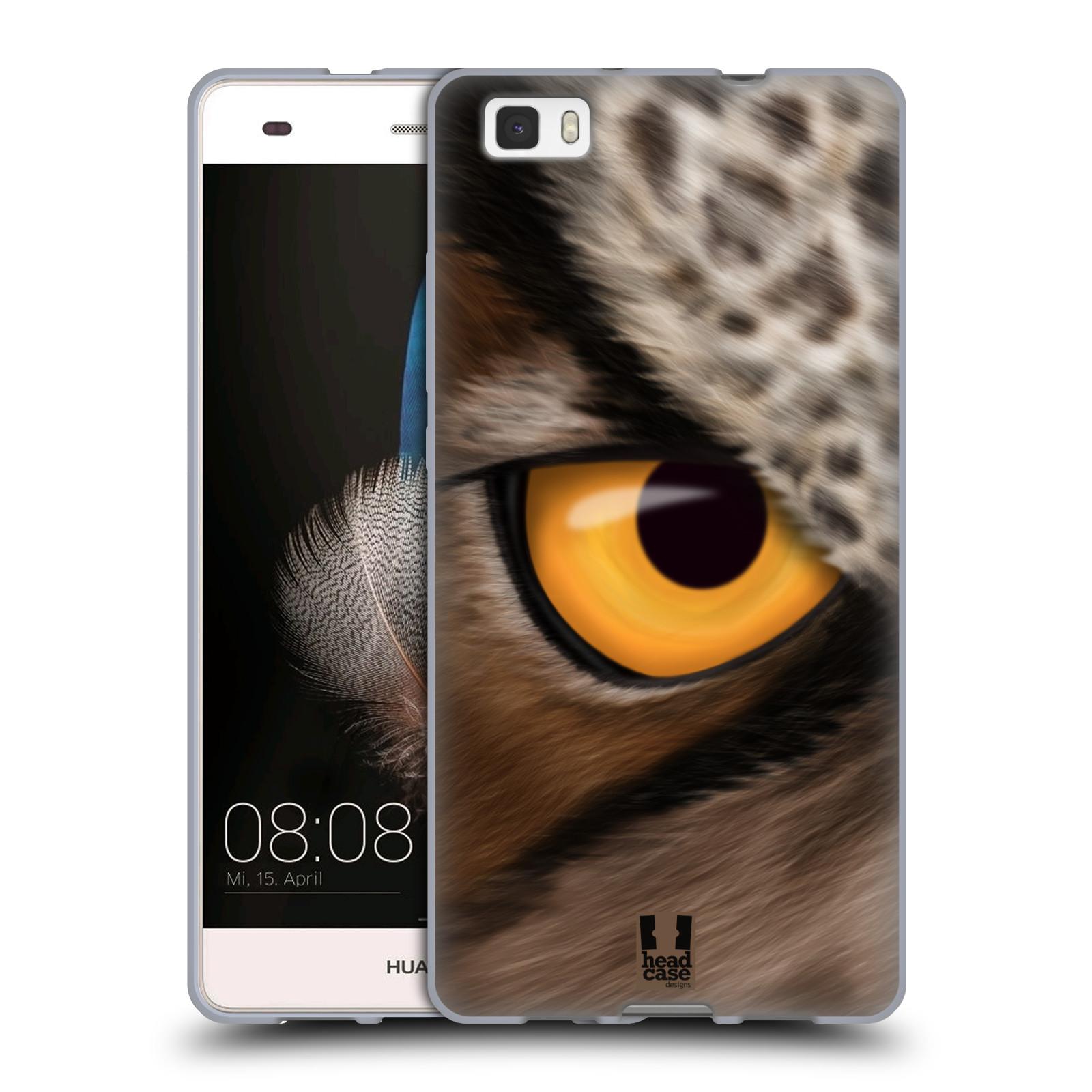 HEAD CASE silikonový obal na mobil HUAWEI P8 LITE vzor pohled zvířete oko sova