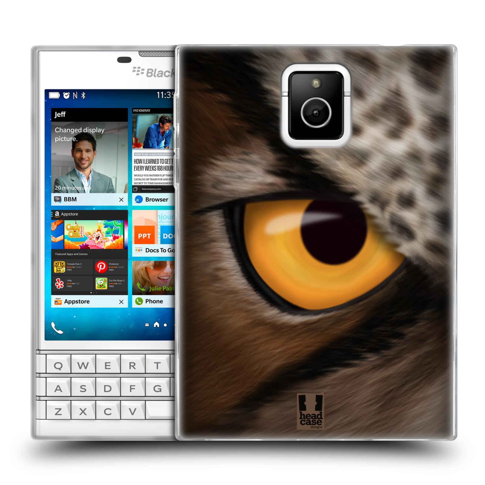 HEAD CASE silikonový obal na mobil Blackberry PASSPORT vzor pohled zvířete oko sova
