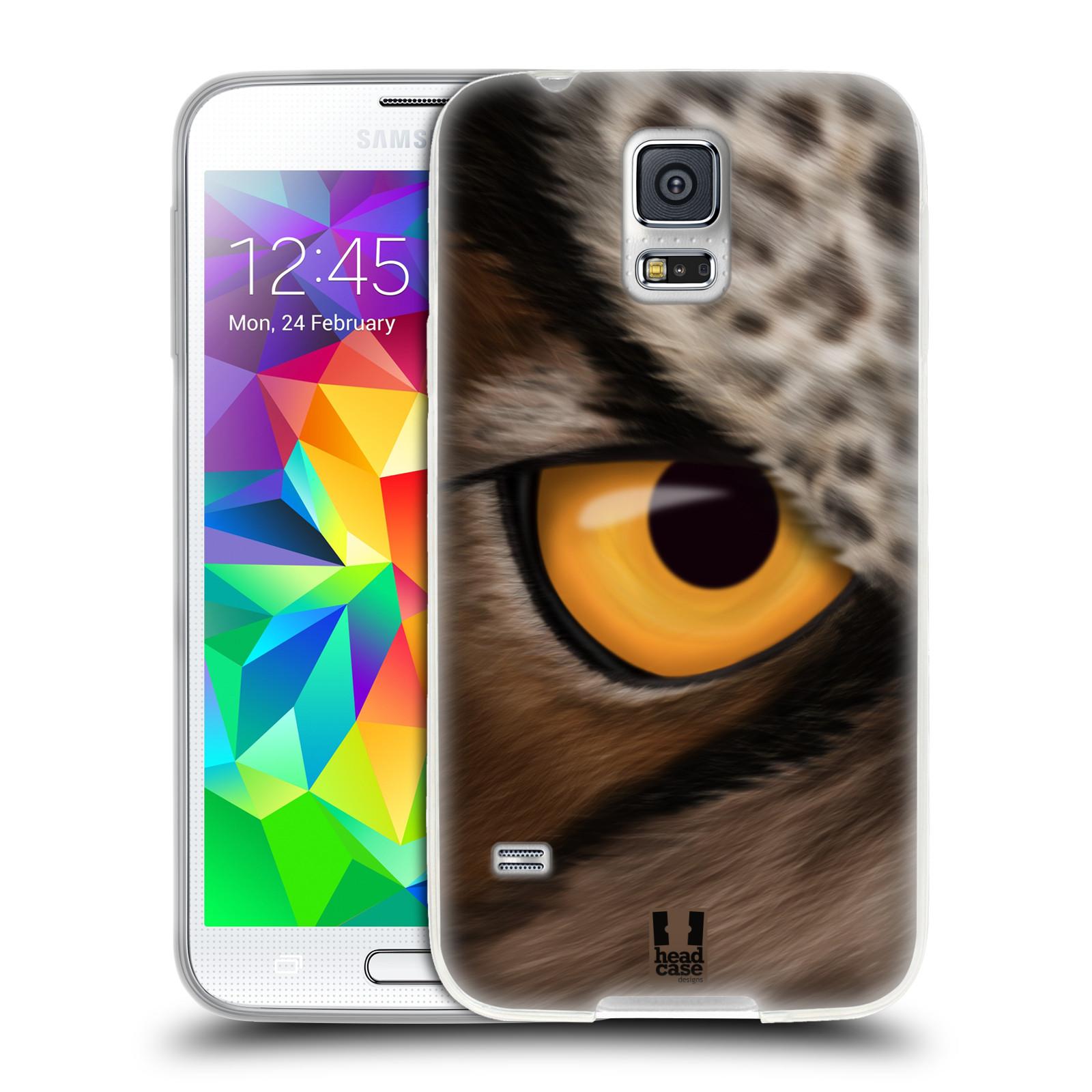HEAD CASE silikonový obal na mobil Samsung Galaxy S5/S5 NEO vzor pohled zvířete oko sova