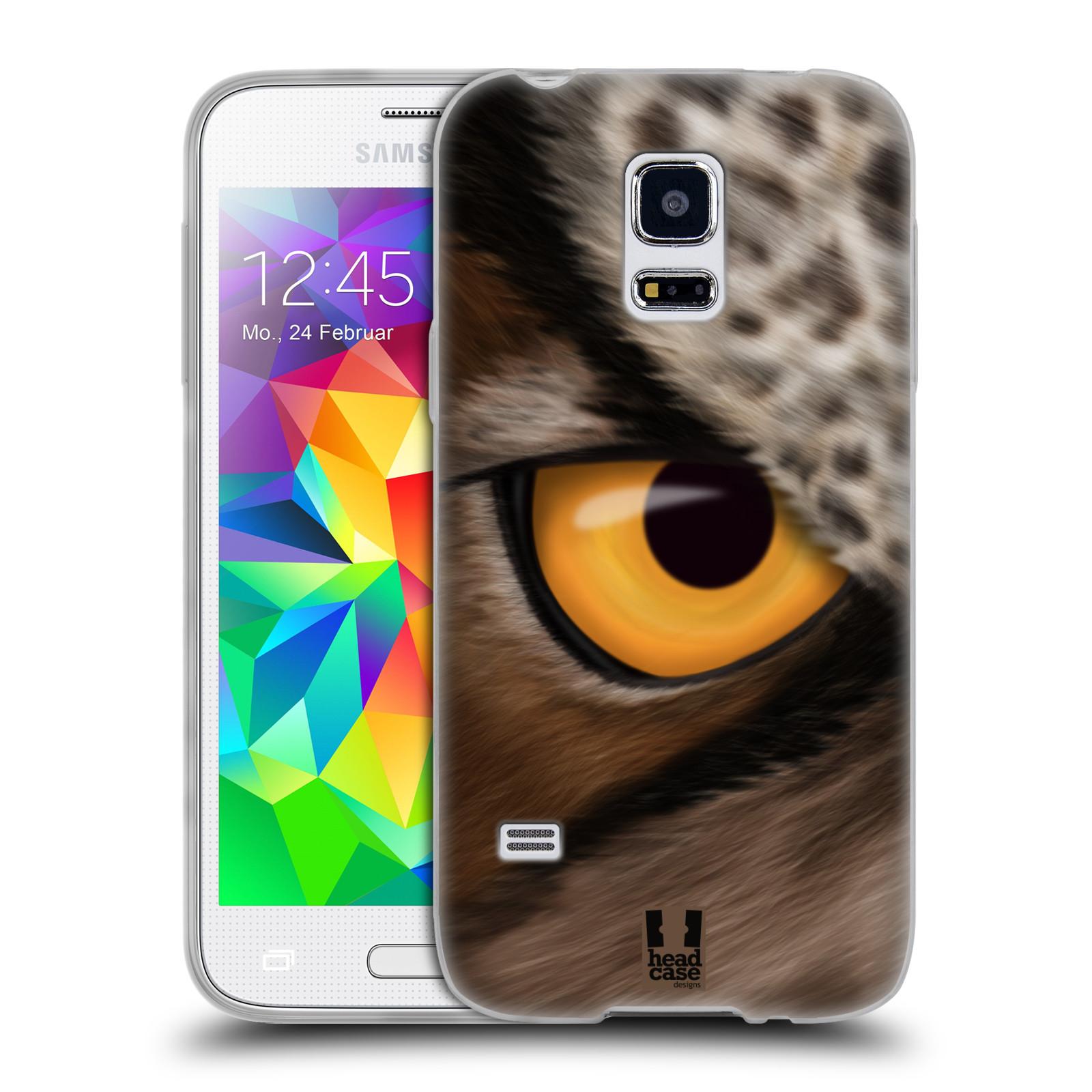 HEAD CASE silikonový obal na mobil Samsung Galaxy S5 MINI vzor pohled zvířete oko sova