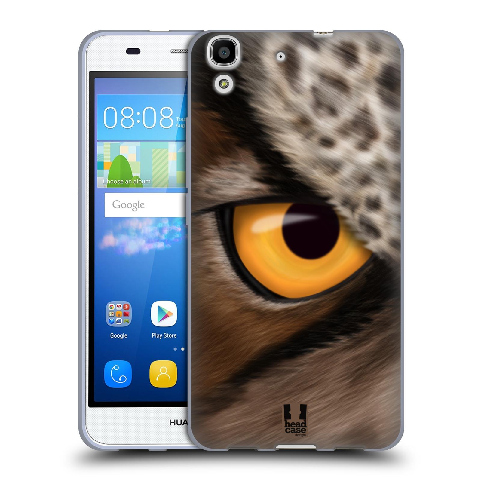 HEAD CASE silikonový obal na mobil HUAWEI Y6 vzor pohled zvířete oko sova