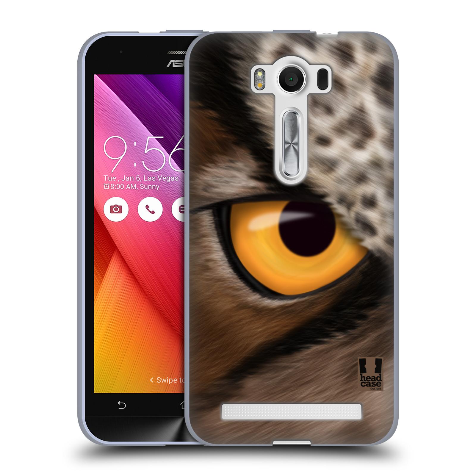 """HEAD CASE silikonový obal na mobil Asus Zenfone 2 LASER (ZE500KL s 5"""" displejem) vzor pohled zvířete oko sova"""