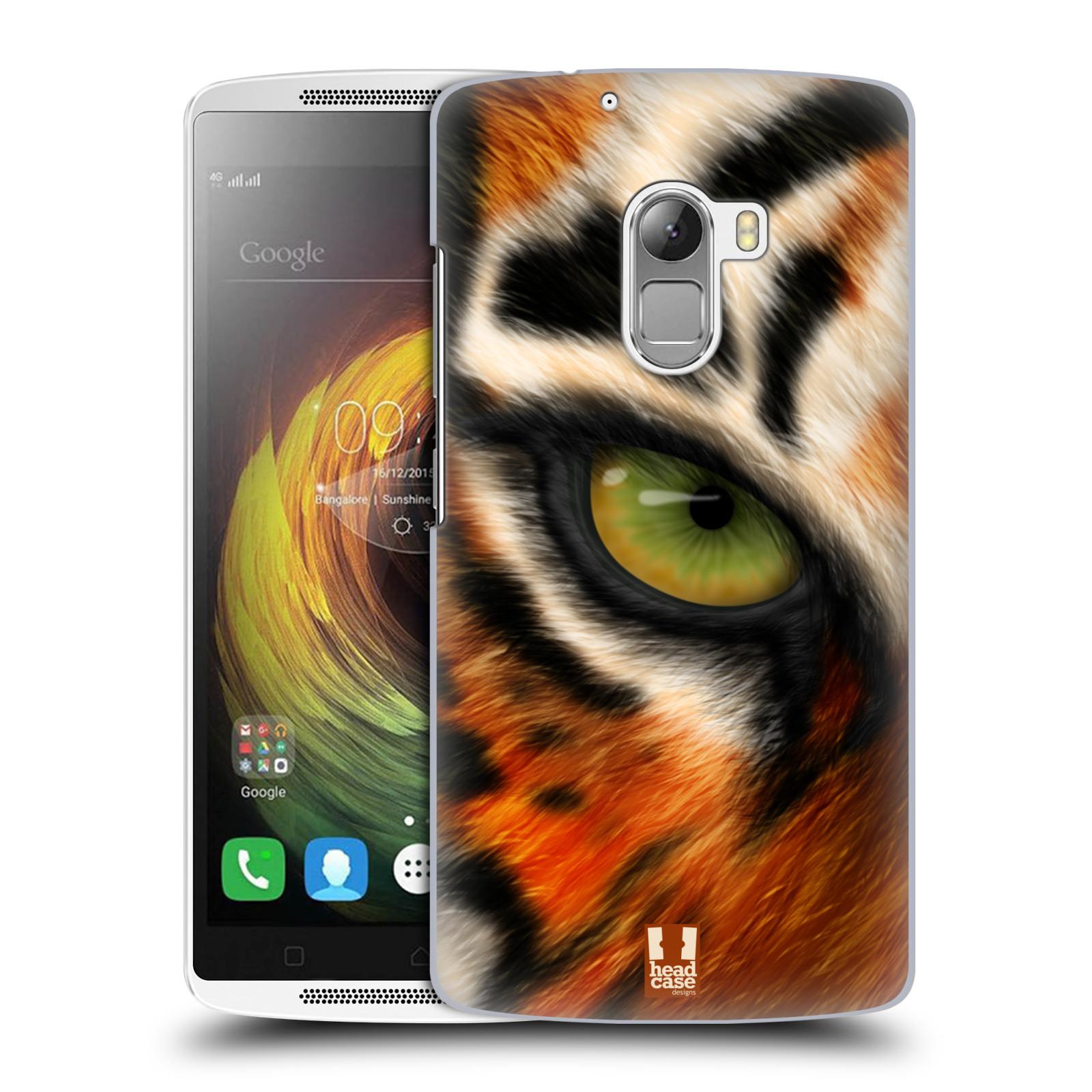 HEAD CASE pevný plastový obal na mobil LENOVO A7010 / A7010 DUAL / K4 Note / Vibe X3 lite vzor pohled zvířete oko tygr