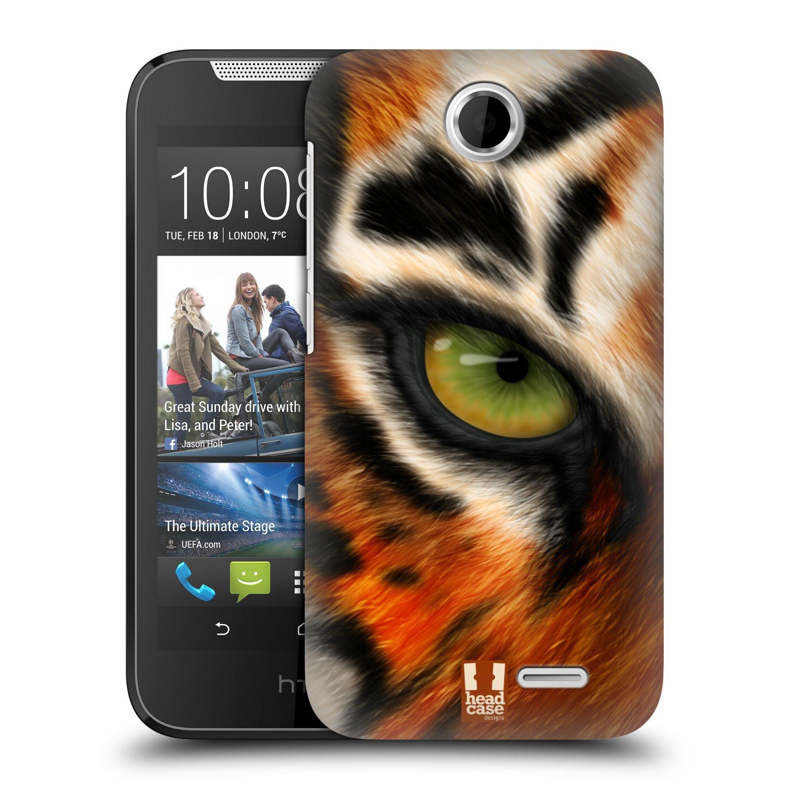 HEAD CASE plastový obal na mobil HTC Desire 310 vzor pohled zvířete oko tygr