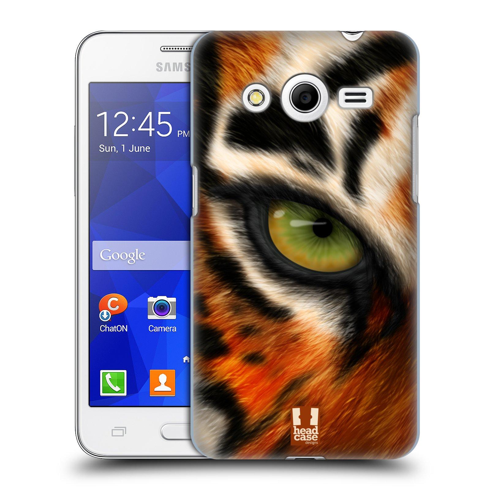 HEAD CASE plastový obal na mobil SAMSUNG GALAXY Core 2 (G355H) vzor pohled zvířete oko tygr