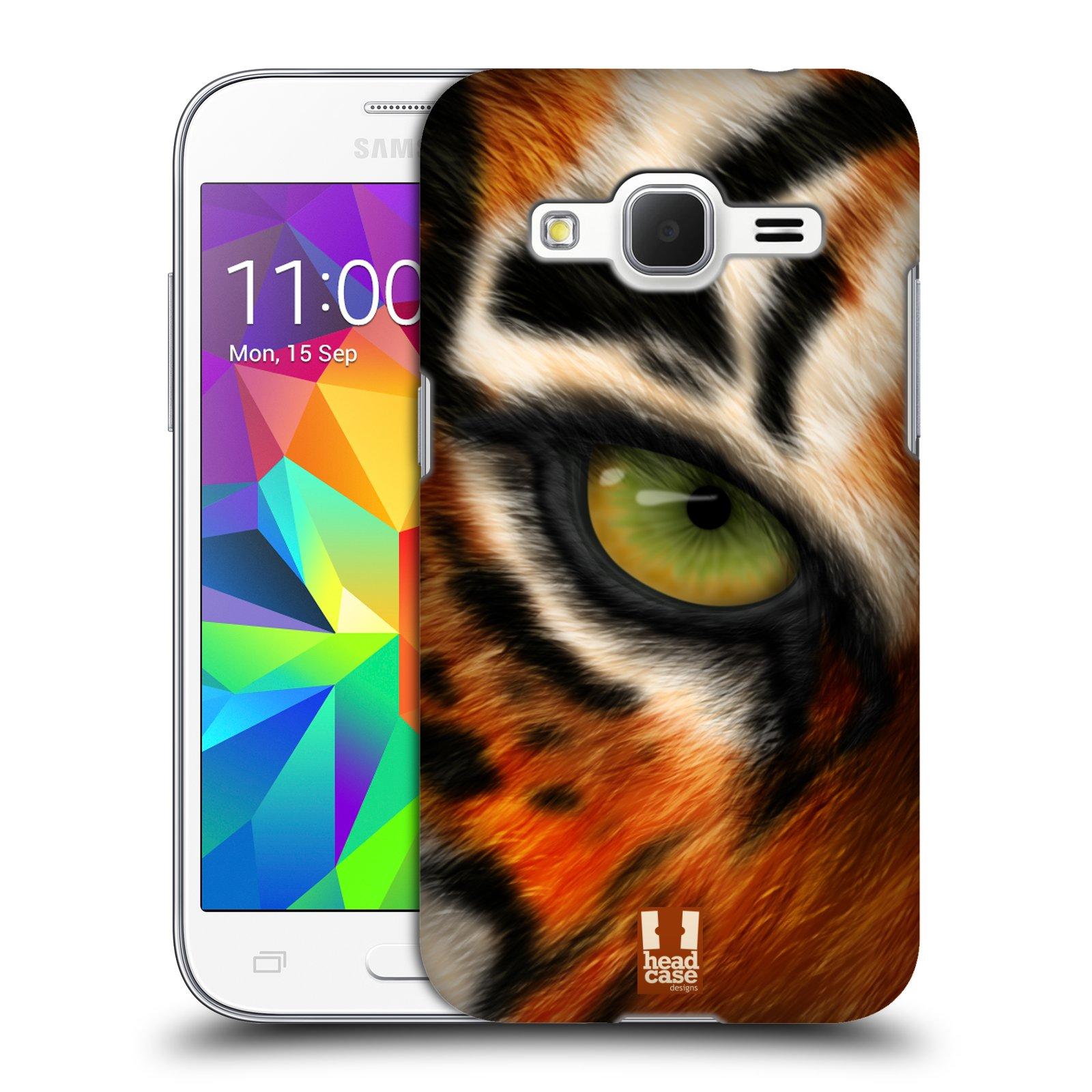 HEAD CASE plastový obal na mobil SAMSUNG GALAXY Core Prime (Core Prime VE) vzor pohled zvířete oko tygr
