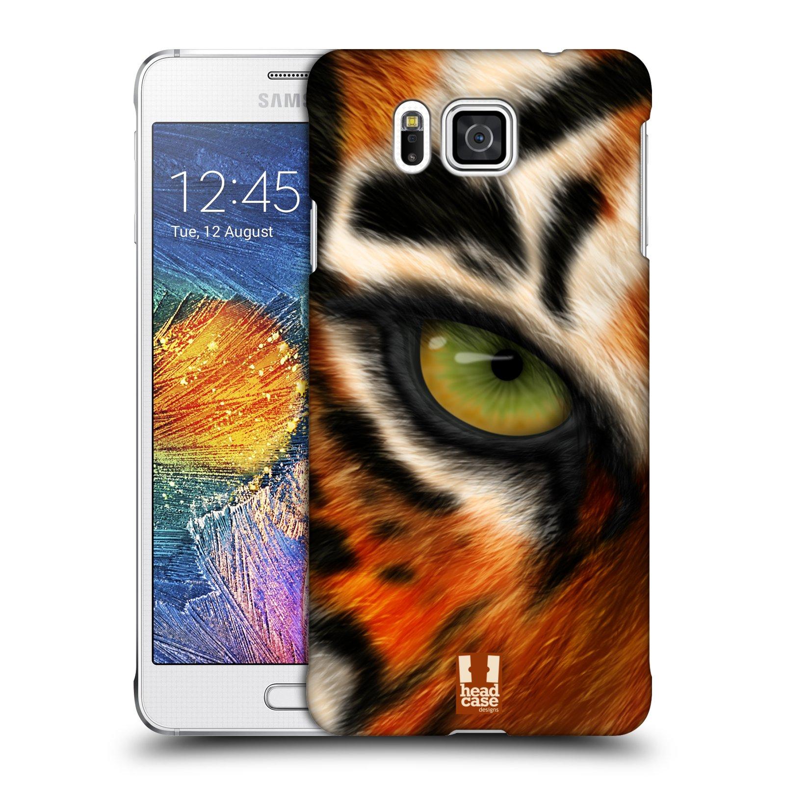 HEAD CASE plastový obal na mobil SAMSUNG Galaxy Alpha (G850) vzor pohled zvířete oko tygr