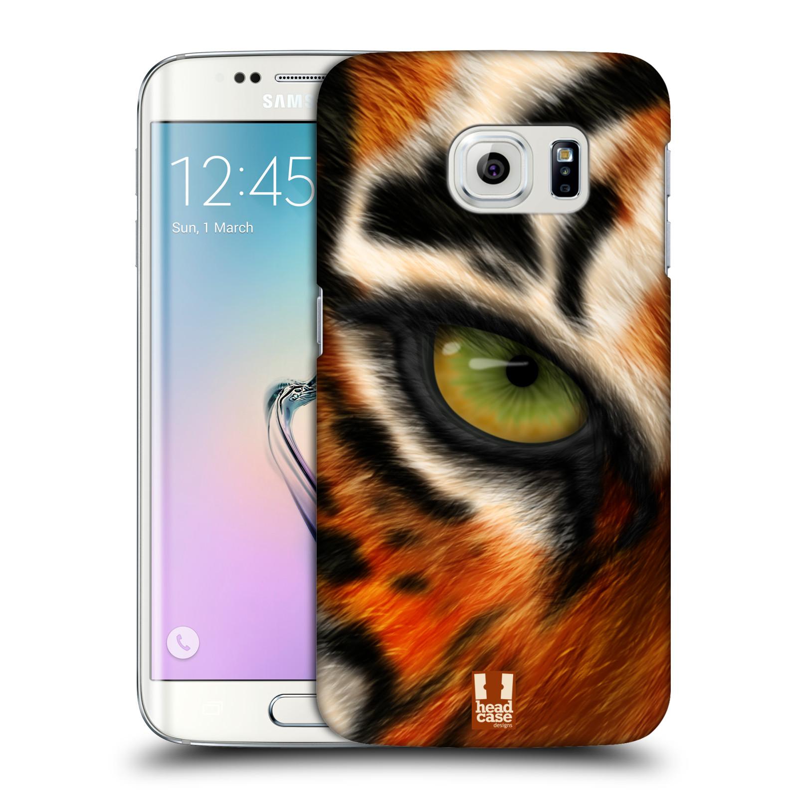 HEAD CASE plastový obal na mobil SAMSUNG Galaxy S6 EDGE (G9250, G925, G925F) vzor pohled zvířete oko tygr