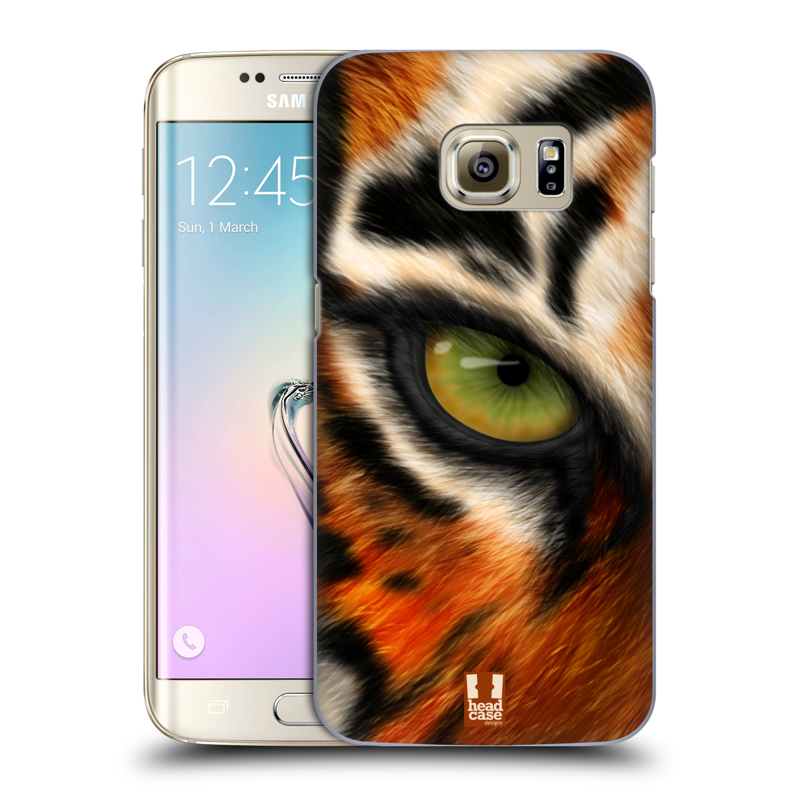 HEAD CASE plastový obal na mobil SAMSUNG GALAXY S7 EDGE vzor pohled zvířete oko tygr