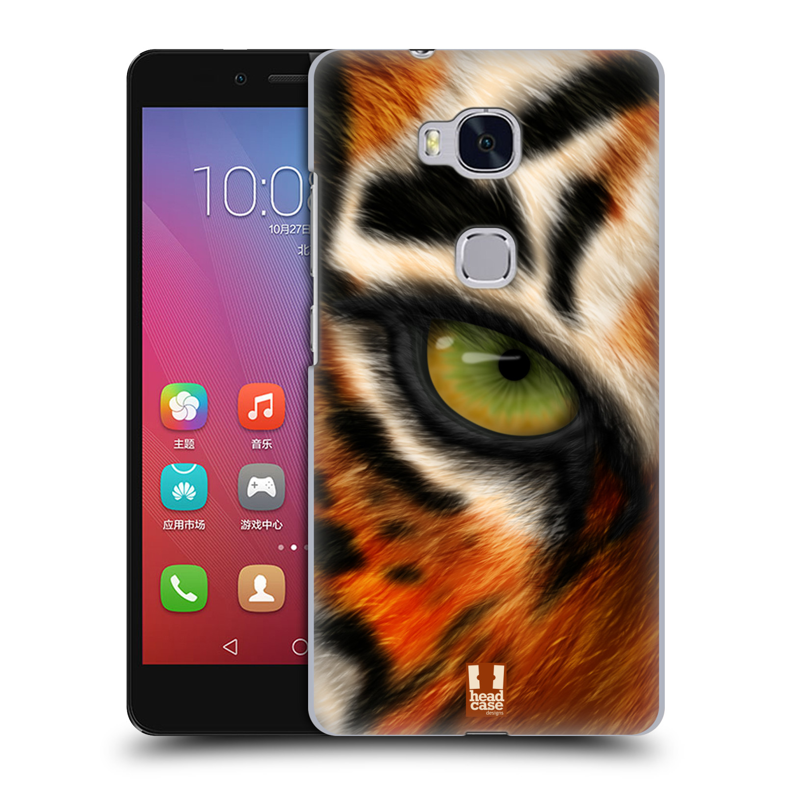 HEAD CASE pevný plastový obal na mobil HUAWEI HONOR 5X vzor pohled zvířete oko tygr
