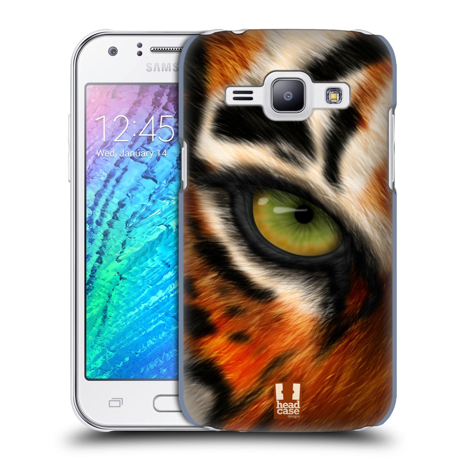 HEAD CASE plastový obal na mobil SAMSUNG Galaxy J1, J100 vzor pohled zvířete oko tygr
