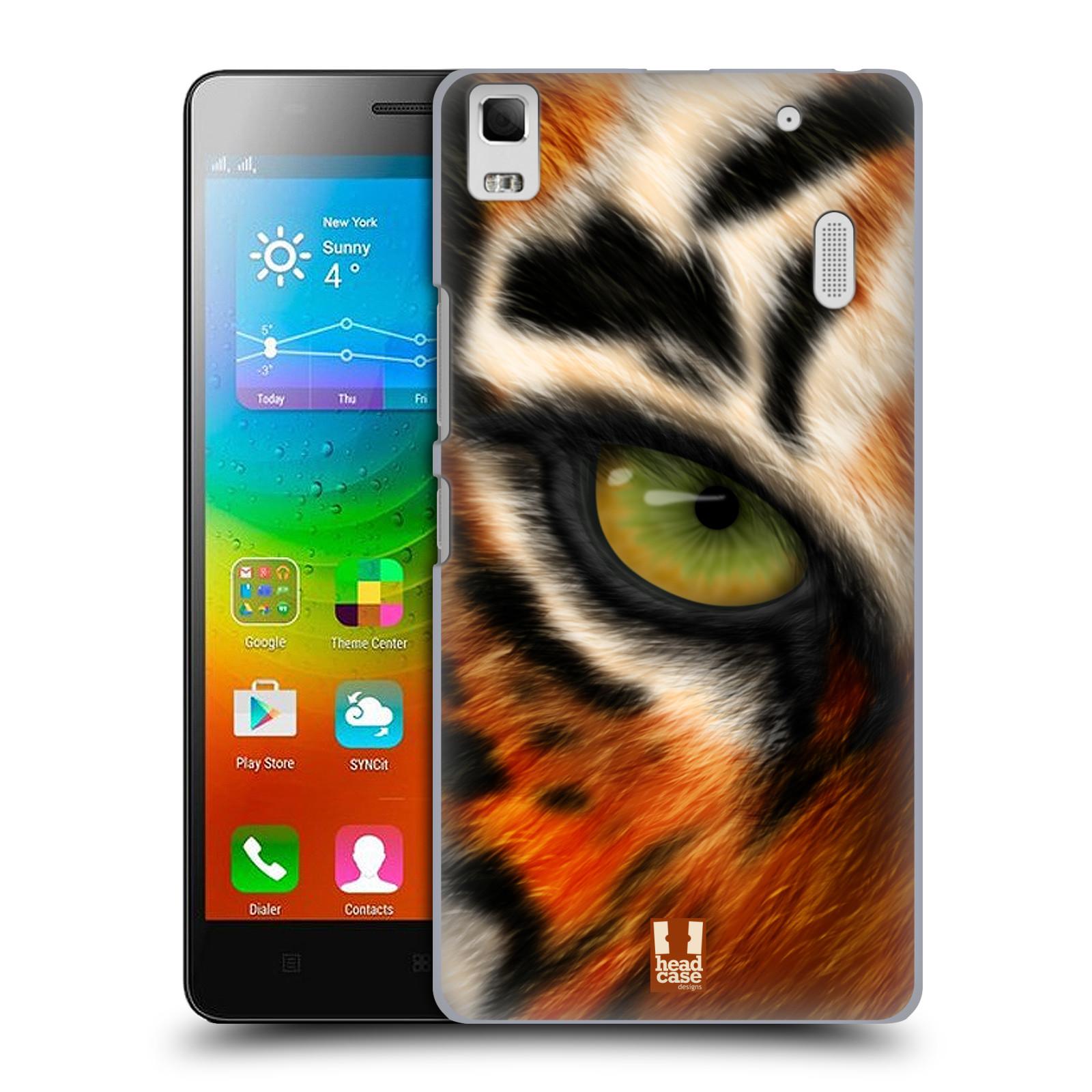 HEAD CASE pevný plastový obal na mobil LENOVO A7000 / A7000 DUAL / K3 NOTE vzor pohled zvířete oko tygr
