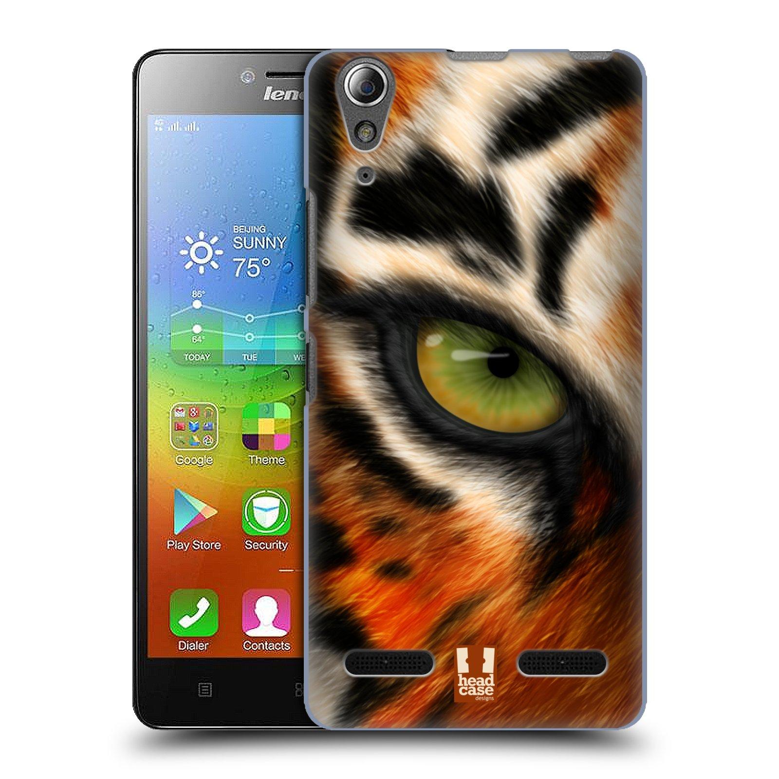 HEAD CASE pevný plastový obal na mobil LENOVO A6000 / A6000 PLUS vzor pohled zvířete oko tygr