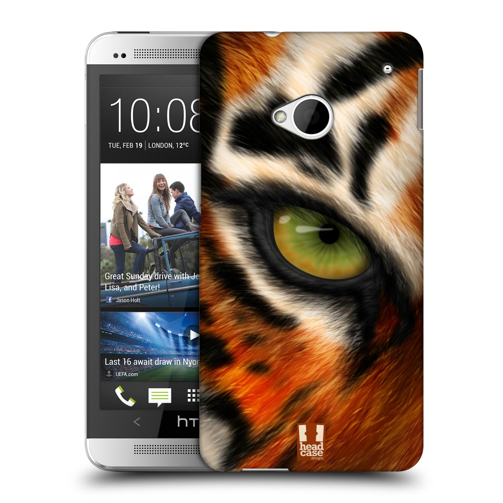 HEAD CASE plastový obal na mobil HTC One (M7) vzor pohled zvířete oko tygr