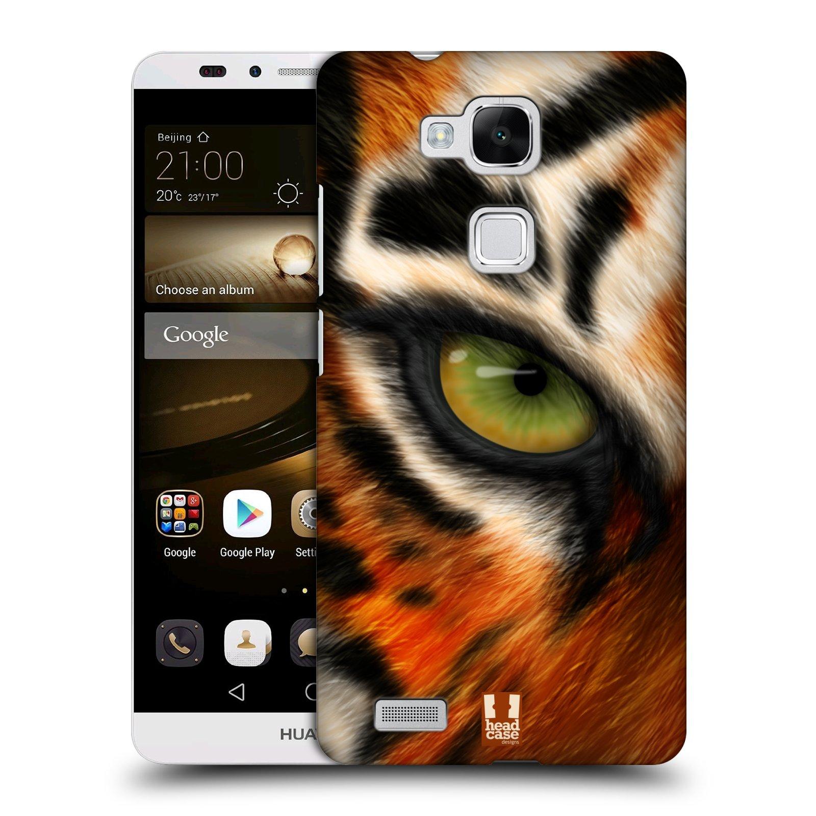 HEAD CASE plastový obal na mobil Huawei Mate 7 vzor pohled zvířete oko tygr