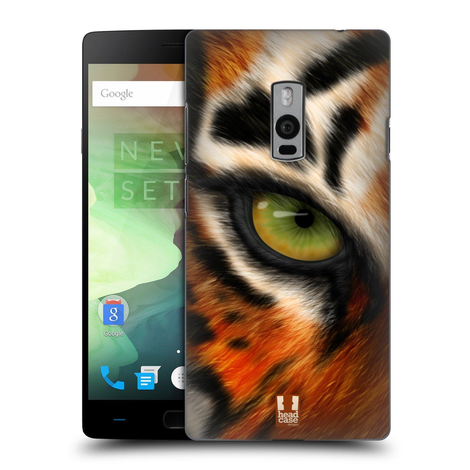 HEAD CASE pevný plastový obal na mobil OnePlus 2  ( TWO ) vzor pohled zvířete oko tygr