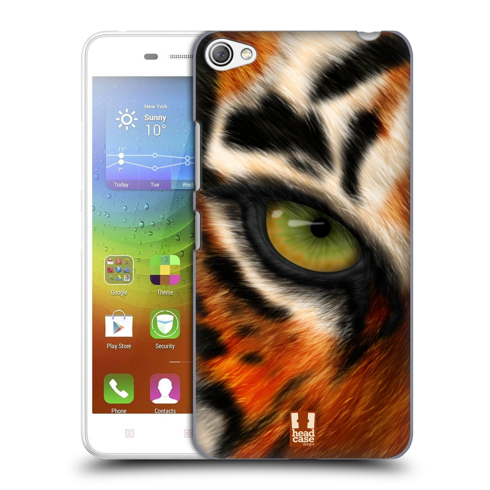 HEAD CASE pevný plastový obal na mobil LENOVO S60 / LENOVO S60 DUAL SIM vzor pohled zvířete oko tygr
