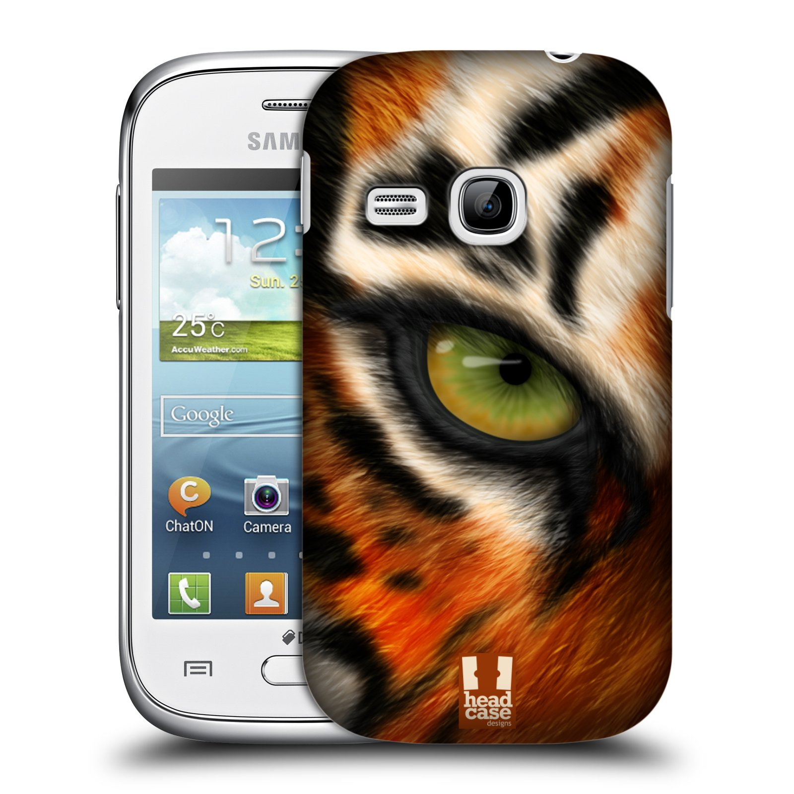 HEAD CASE plastový obal na mobil SAMSUNG Galaxy Young S6310 vzor pohled zvířete oko tygr