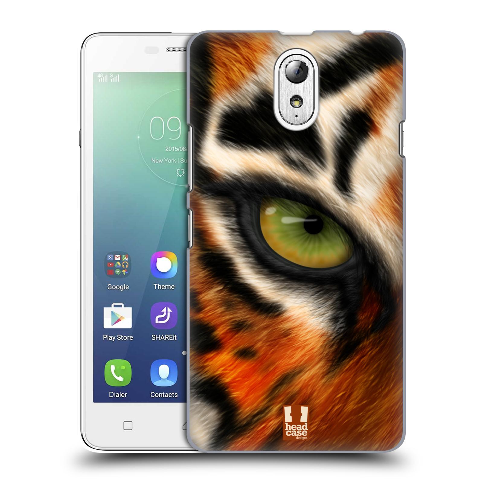 HEAD CASE pevný plastový obal na mobil LENOVO VIBE P1m / LENOVO VIBE p1m DUAL SIM vzor pohled zvířete oko tygr