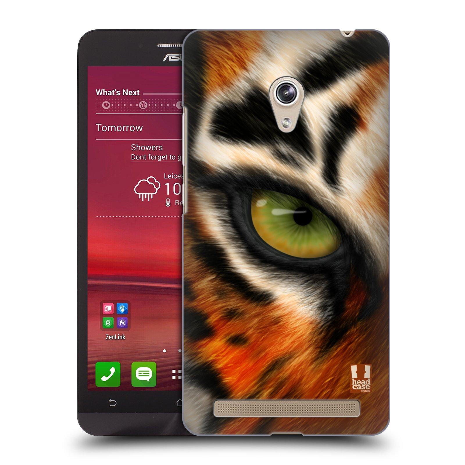 HEAD CASE plastový obal na mobil Asus Zenfone 6 vzor pohled zvířete oko tygr