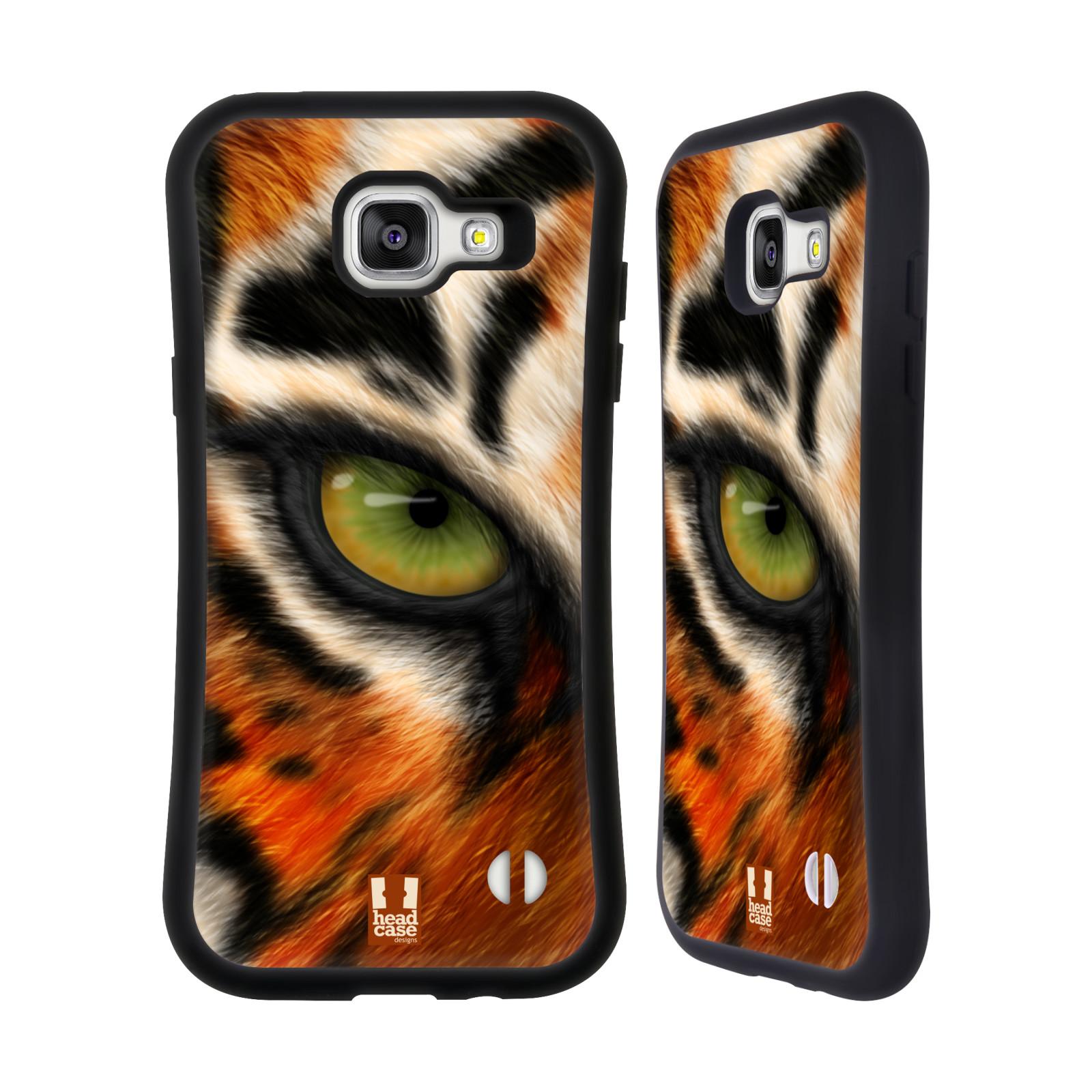 HEAD CASE silikon/plast odolný obal na mobil Samsung Galaxy A5 2016 vzor pohled zvířete oko tygr