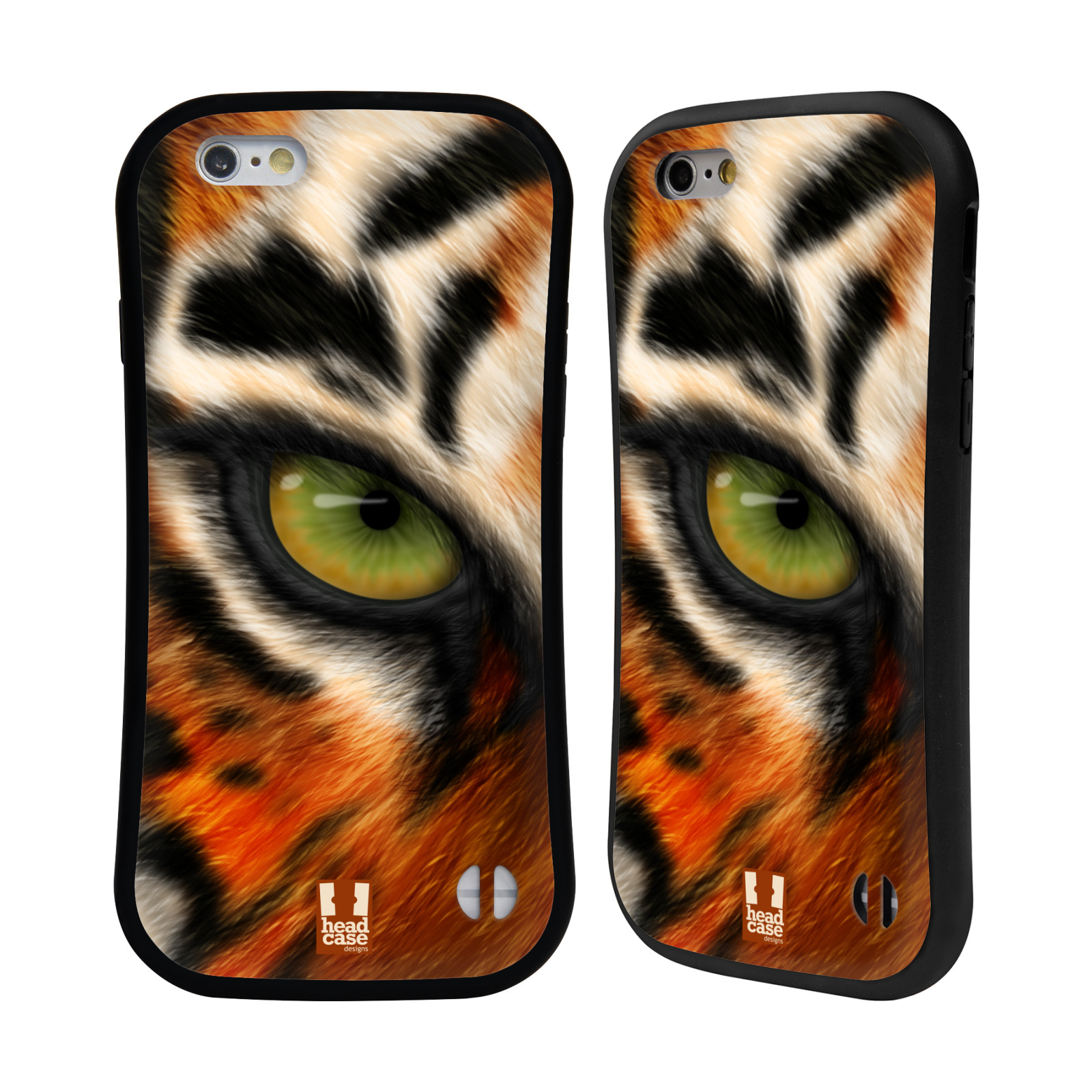 HEAD CASE silikon/plast odolný obal na mobil Apple Iphone 6/6S vzor pohled zvířete oko tygr