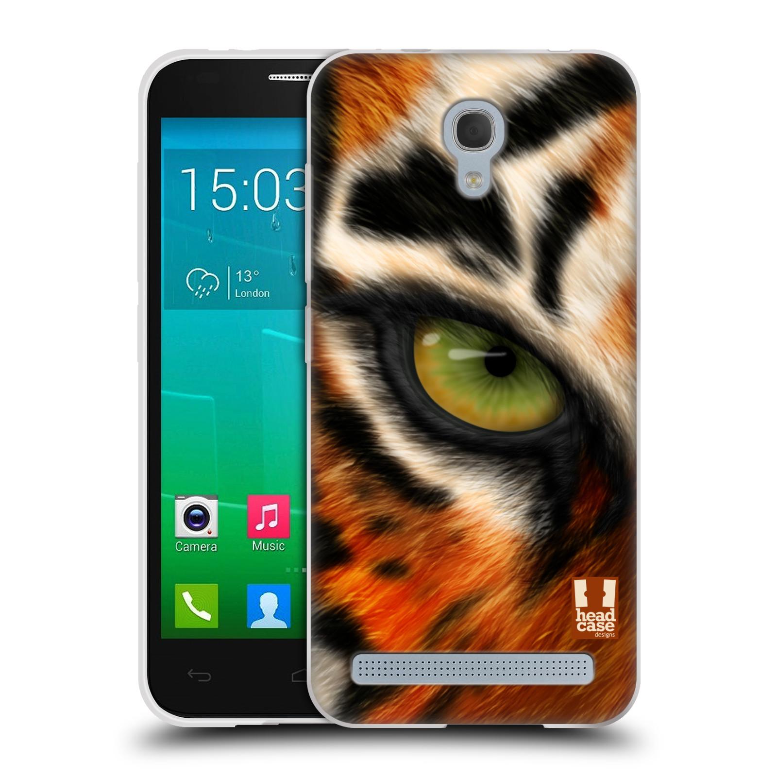 HEAD CASE silikonový obal na mobil Alcatel Idol 2 MINI S 6036Y vzor pohled zvířete oko tygr