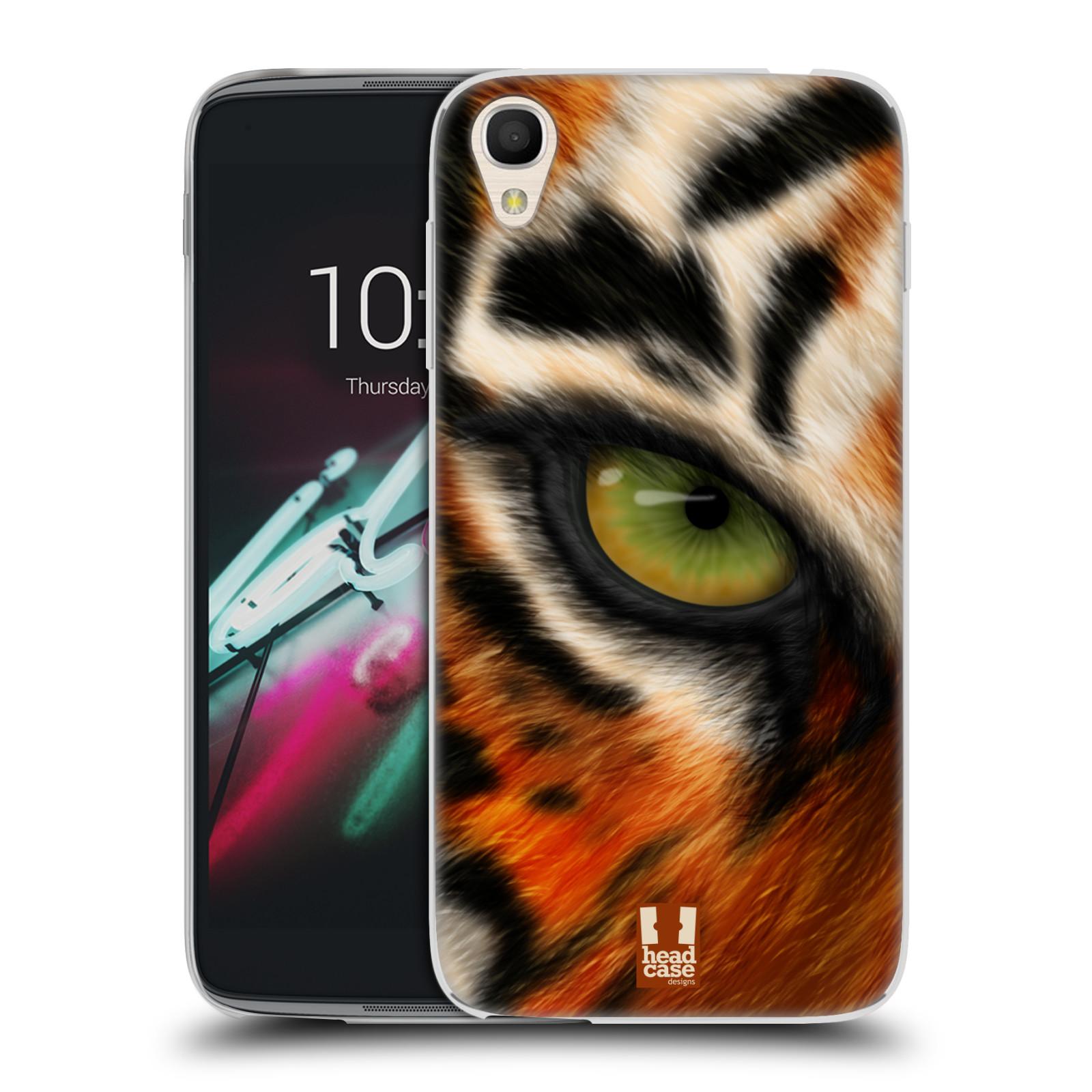 HEAD CASE silikonový obal na mobil Alcatel Idol 3 OT-6039Y (4.7) vzor pohled zvířete oko tygr