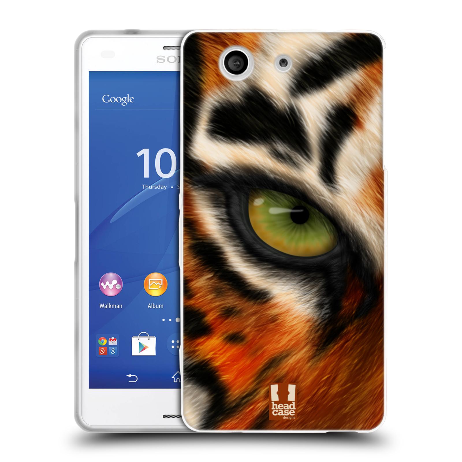 HEAD CASE silikonový obal na mobil Sony Xperia Z3 COMPACT (D5803) vzor pohled zvířete oko tygr