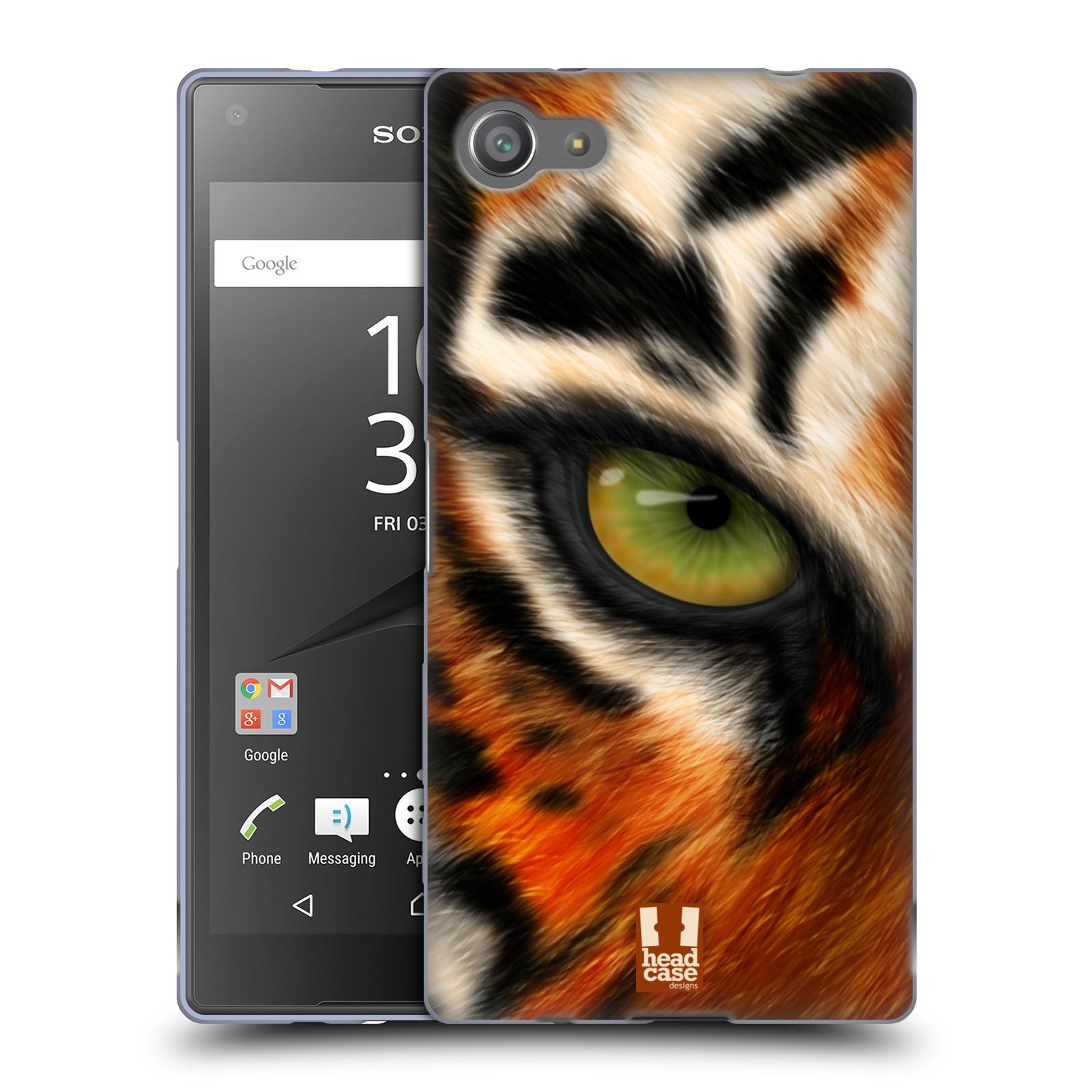 HEAD CASE silikonový obal na mobil Sony Xperia Z5 COMPACT vzor pohled zvířete oko tygr