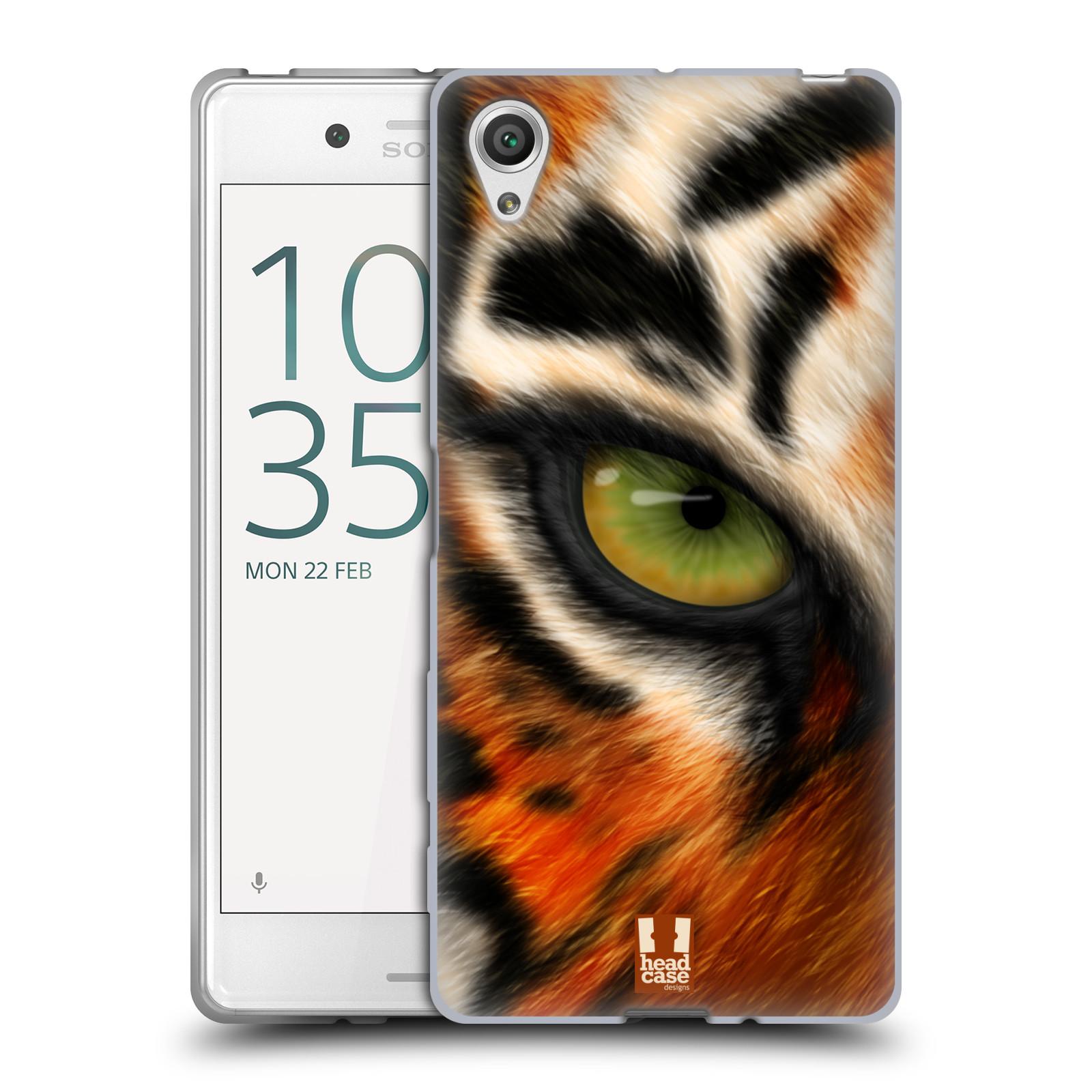 HEAD CASE silikonový obal na mobil Sony Xperia X / X DUAL vzor pohled zvířete oko tygr