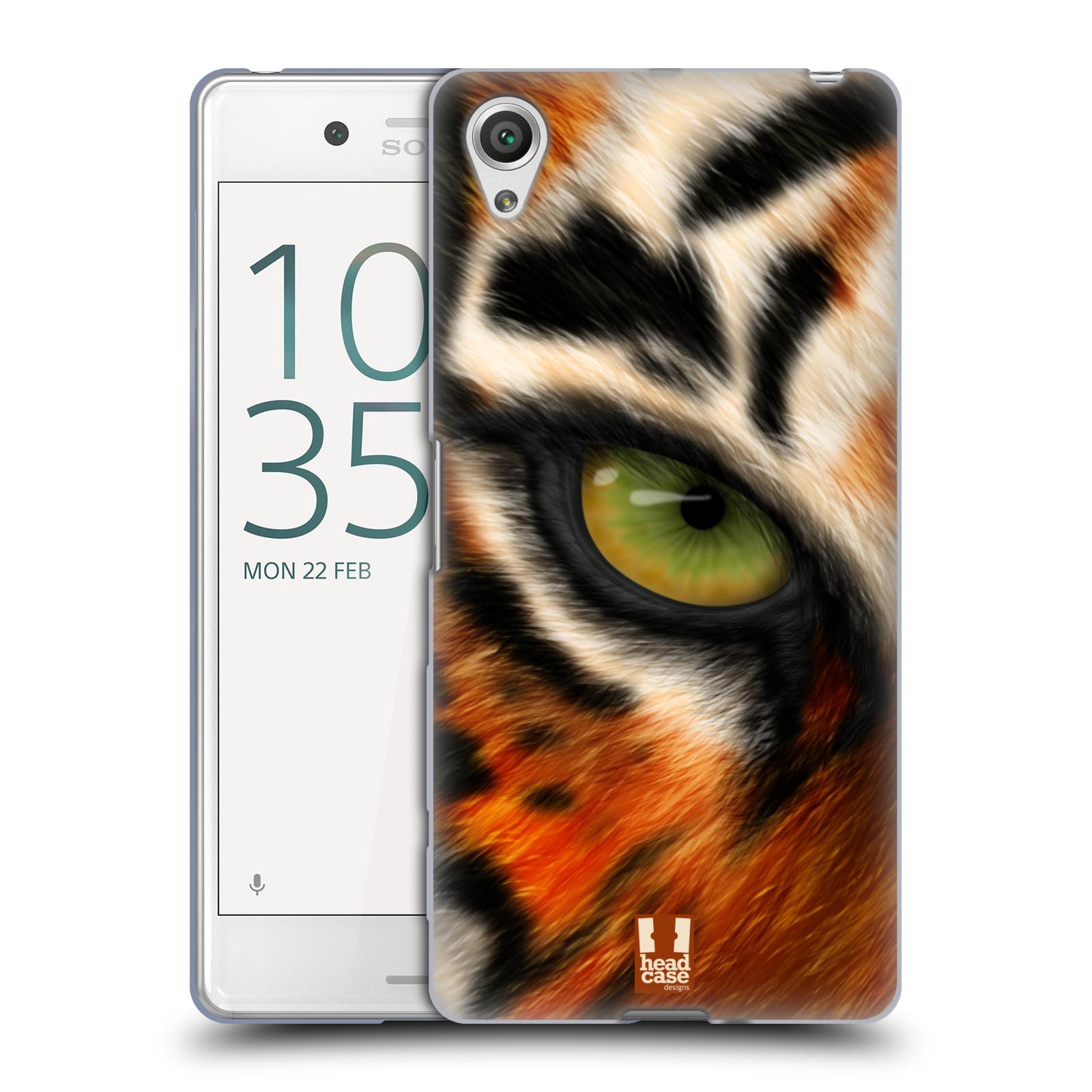 HEAD CASE silikonový obal na mobil Sony Xperia X PERFORMANCE (F8131, F8132) vzor pohled zvířete oko tygr