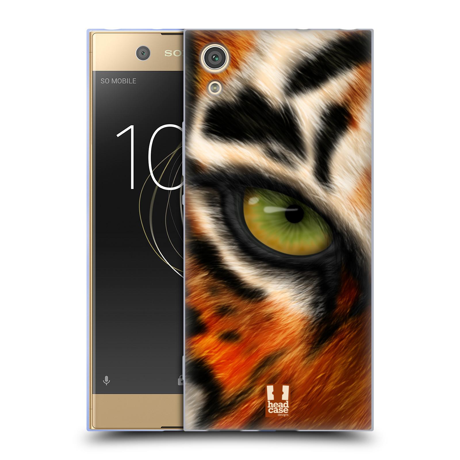 HEAD CASE silikonový obal na mobil Sony Xperia XA1 / XA1 DUAL SIM vzor pohled zvířete oko tygr