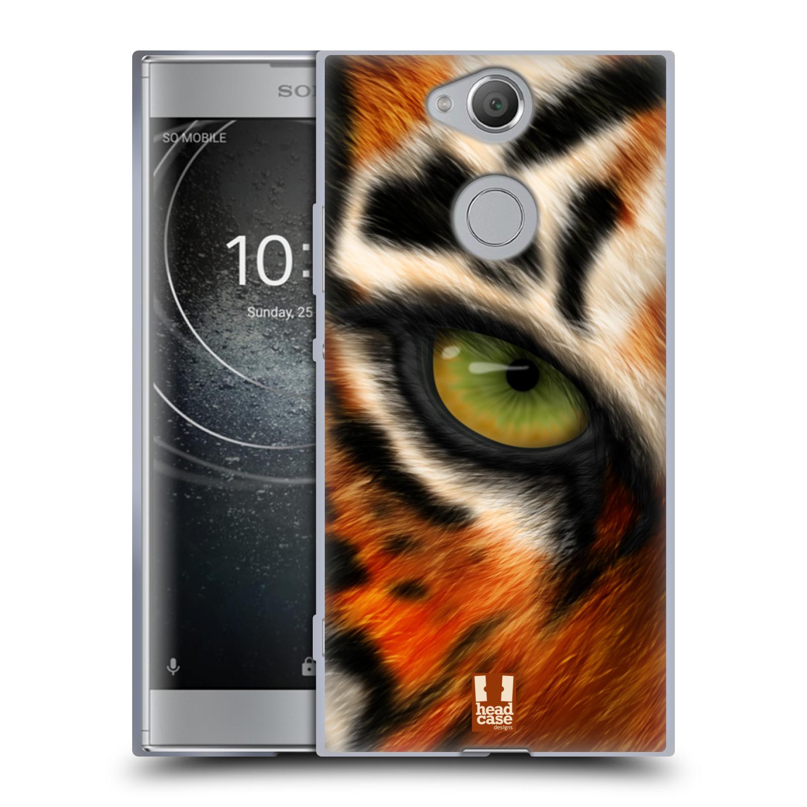 Pouzdro na mobil Sony Xperia XA2 (DUAL SIM, SINGLE SIM) vzor pohled zvířete oko tygr