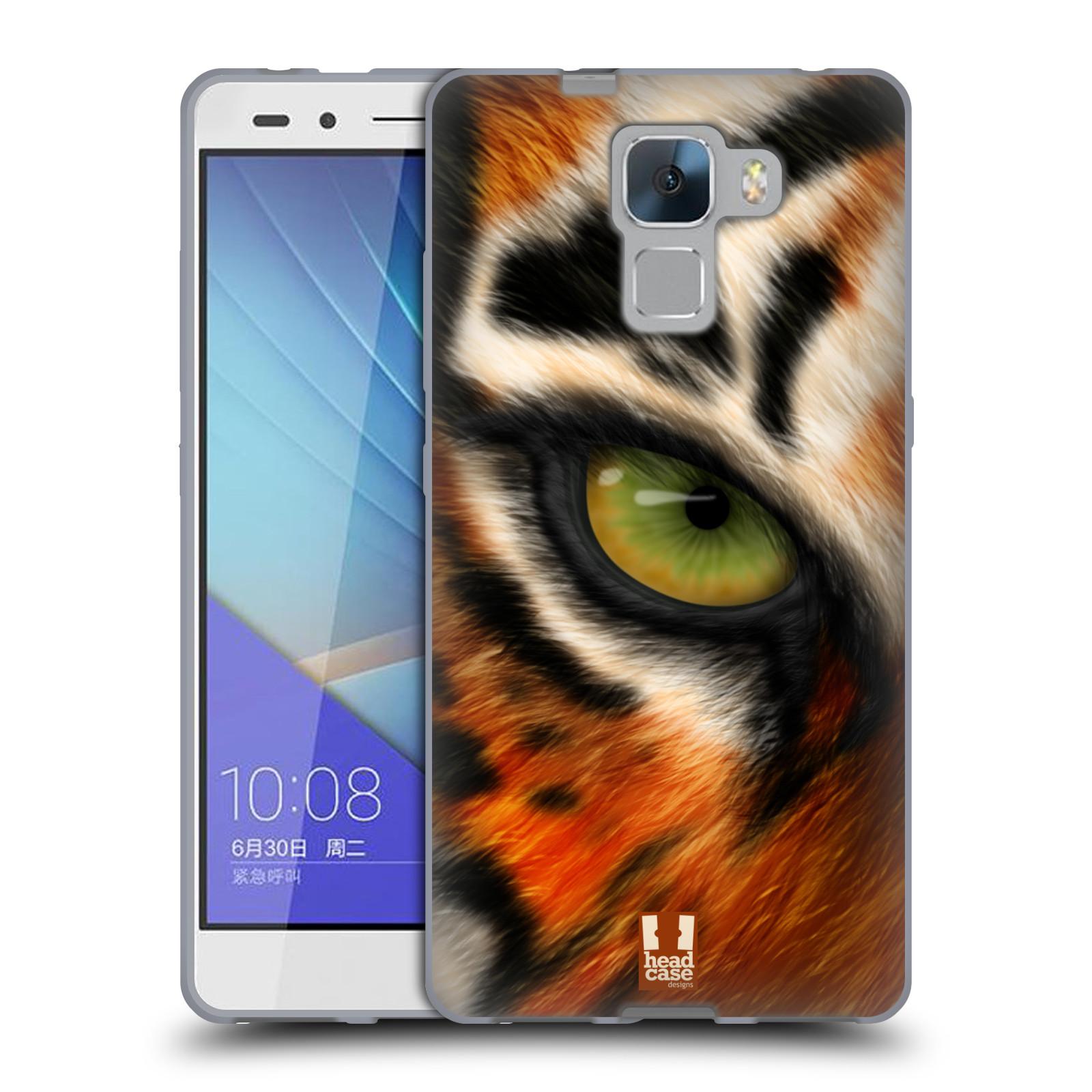 HEAD CASE silikonový obal na mobil HUAWEI HONOR 7 vzor pohled zvířete oko tygr