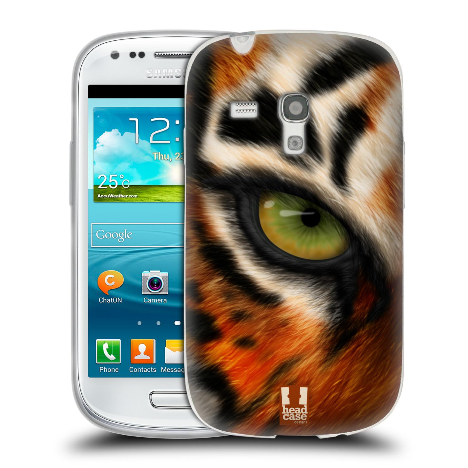 HEAD CASE silikonový obal na mobil Samsung Galaxy S3 MINI i8190 vzor pohled zvířete oko tygr