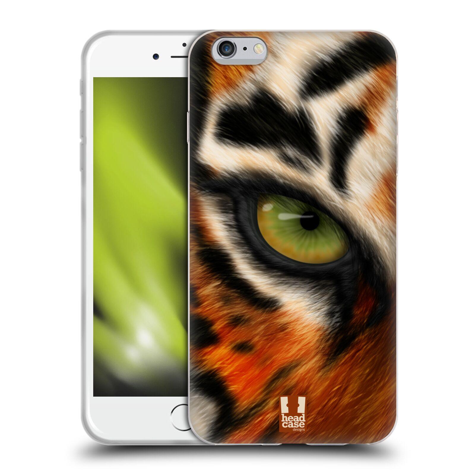 HEAD CASE silikonový obal na mobil Apple Iphone 6 PLUS/ 6S PLUS vzor pohled zvířete oko tygr
