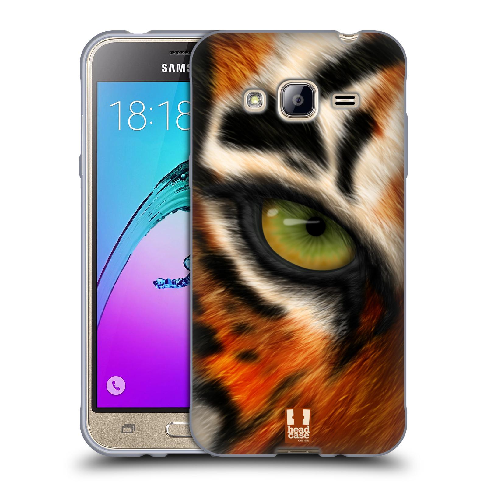 HEAD CASE silikonový obal na mobil Samsung Galaxy J3, J3 2016 vzor pohled zvířete oko tygr