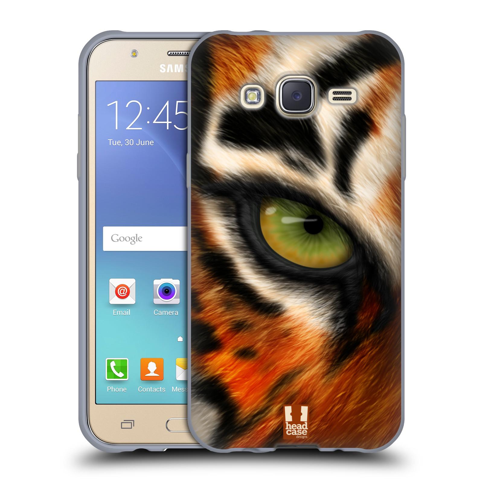 HEAD CASE silikonový obal na mobil Samsung Galaxy J5, J500, (J5 DUOS) vzor pohled zvířete oko tygr