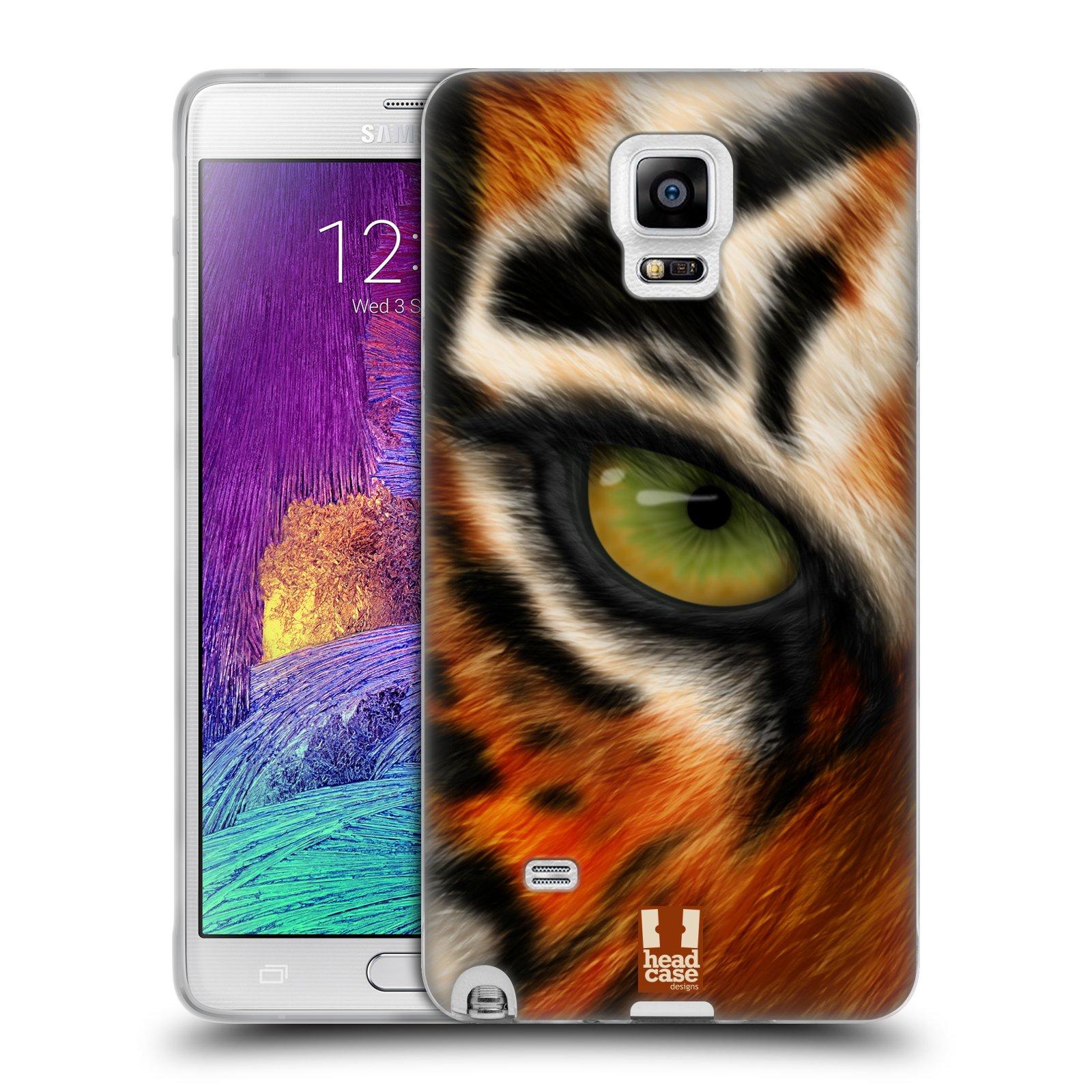 HEAD CASE silikonový obal na mobil Samsung Galaxy Note 4 (N910) vzor pohled zvířete oko tygr