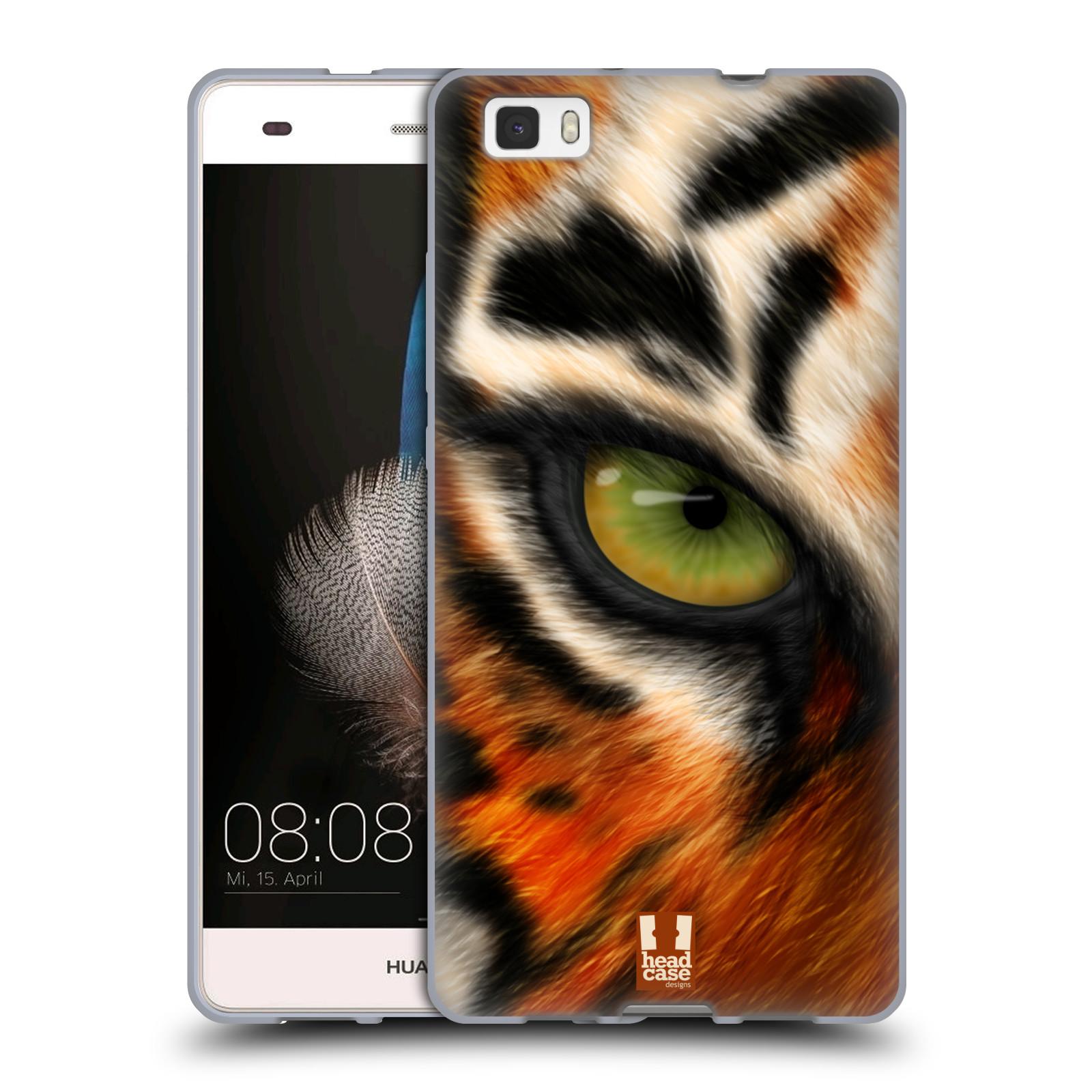 HEAD CASE silikonový obal na mobil HUAWEI P8 LITE vzor pohled zvířete oko tygr